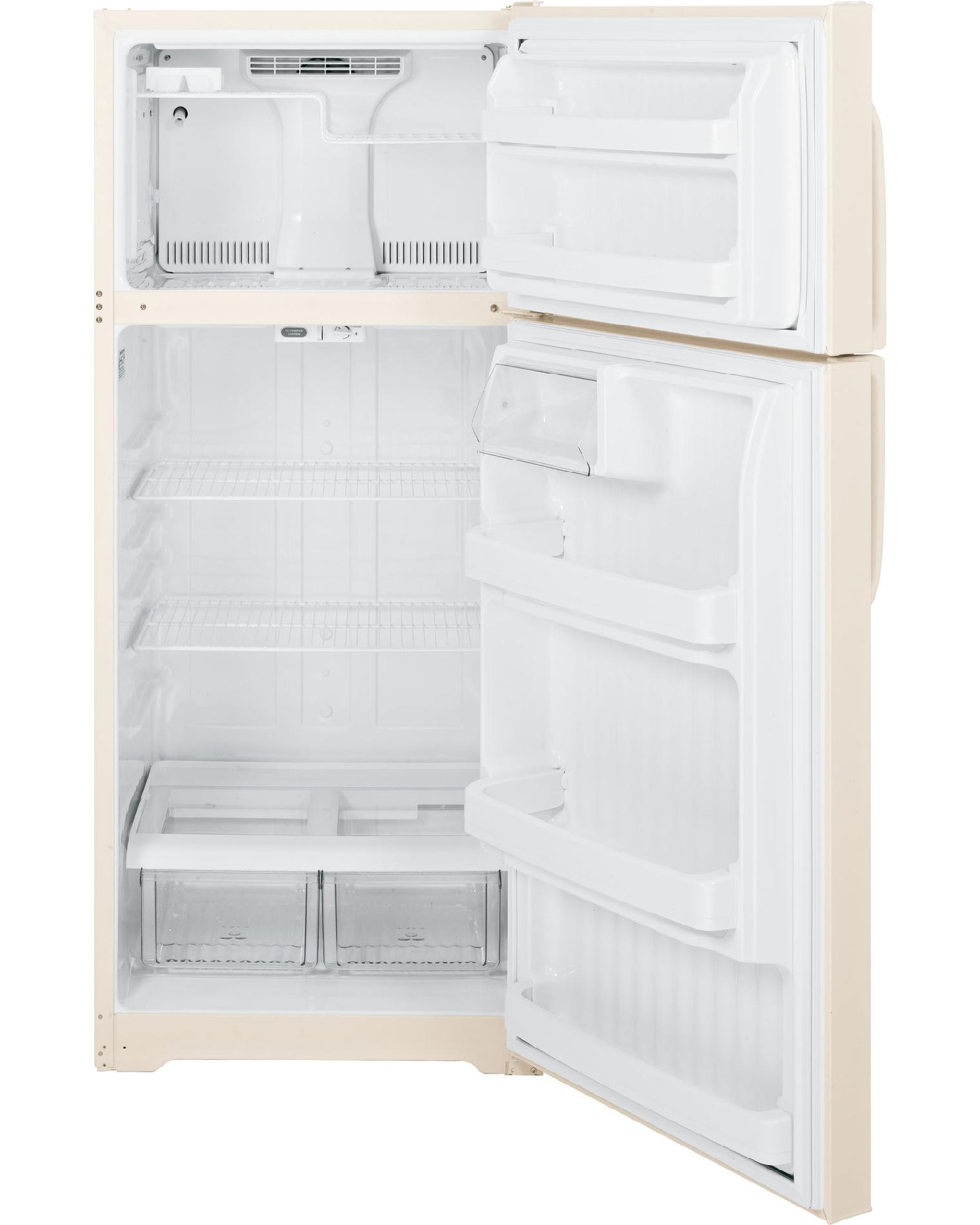 GE 18.1 cu. ft. Top-Freezer Refrigerator - Bisque