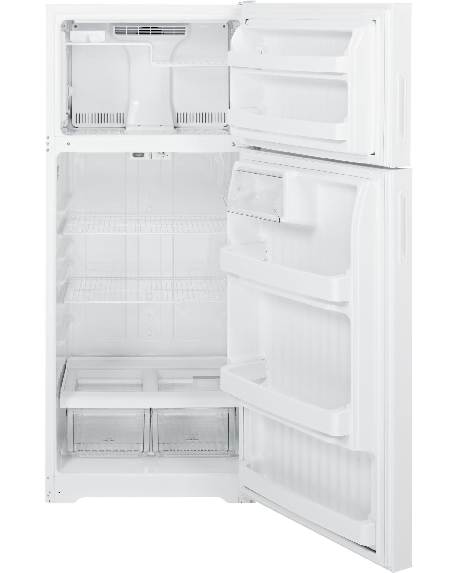GE 18.1 cu. ft. Top-Freezer Refrigerator - White