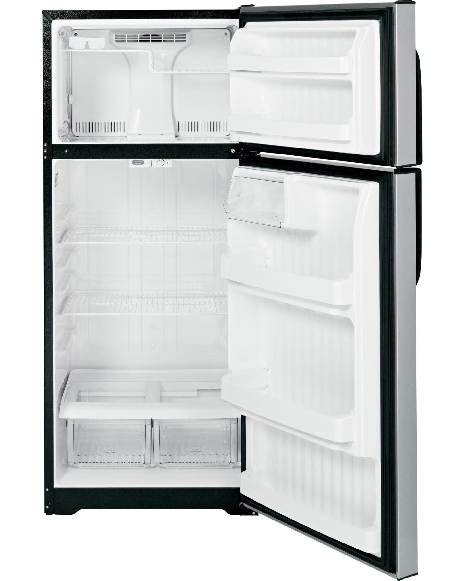 GE 18.1 cu. ft. Top-Freezer Refrigerator - Metallic