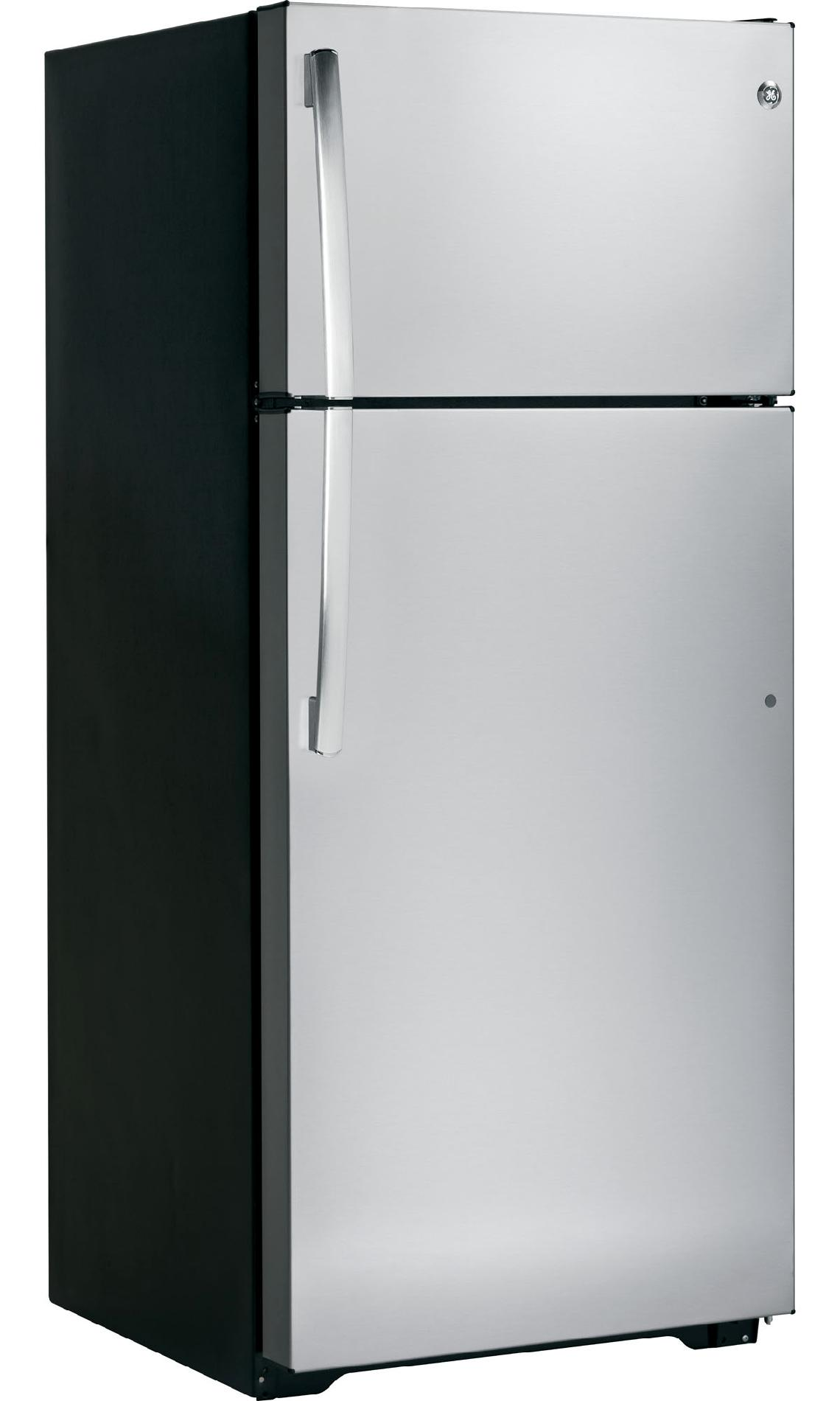 GE 18.1 cu. ft. Top-Freezer Refrigerator - Stainless Steel