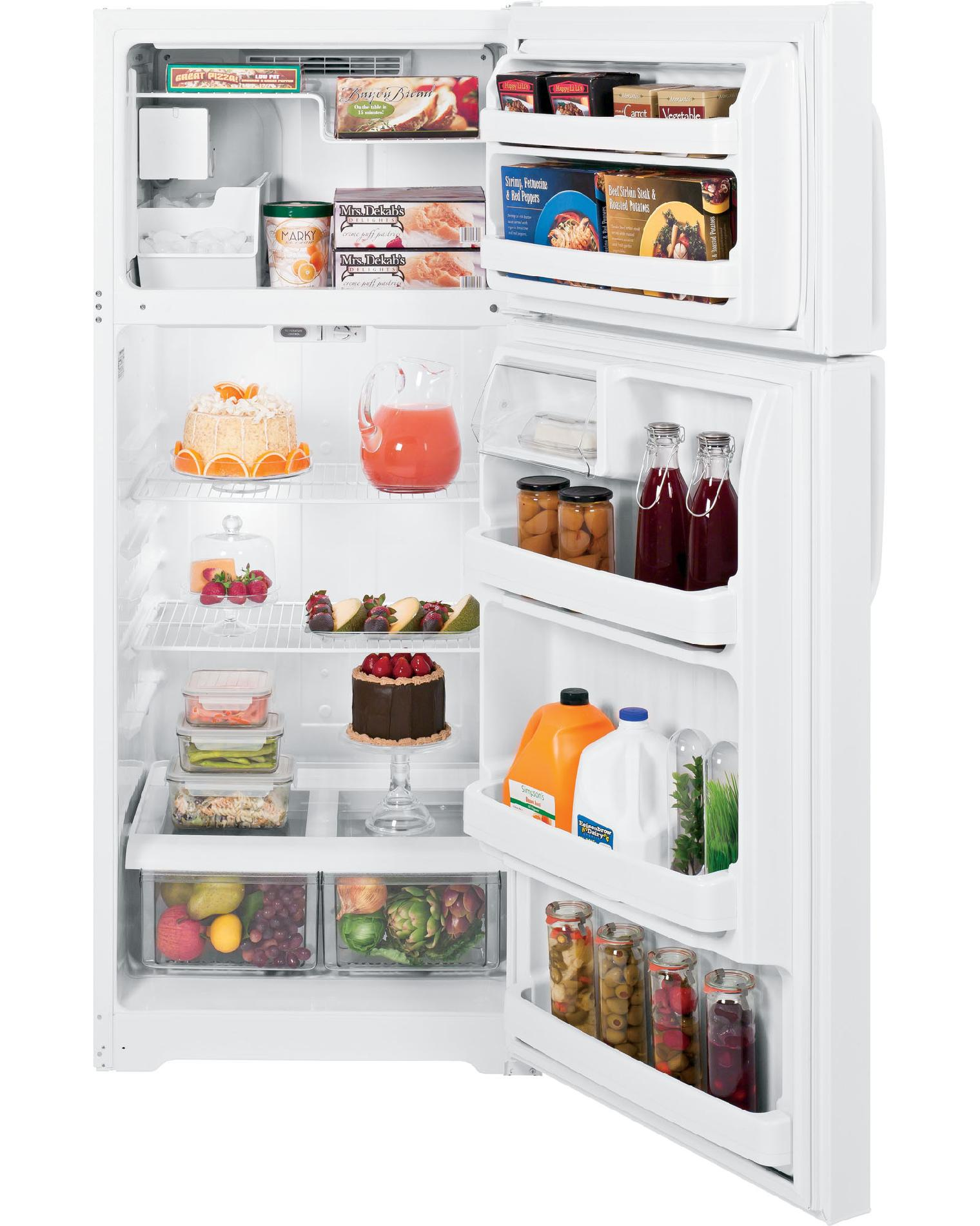 GE 18.1 cu. ft. Top-Freezer Refrigerator - White