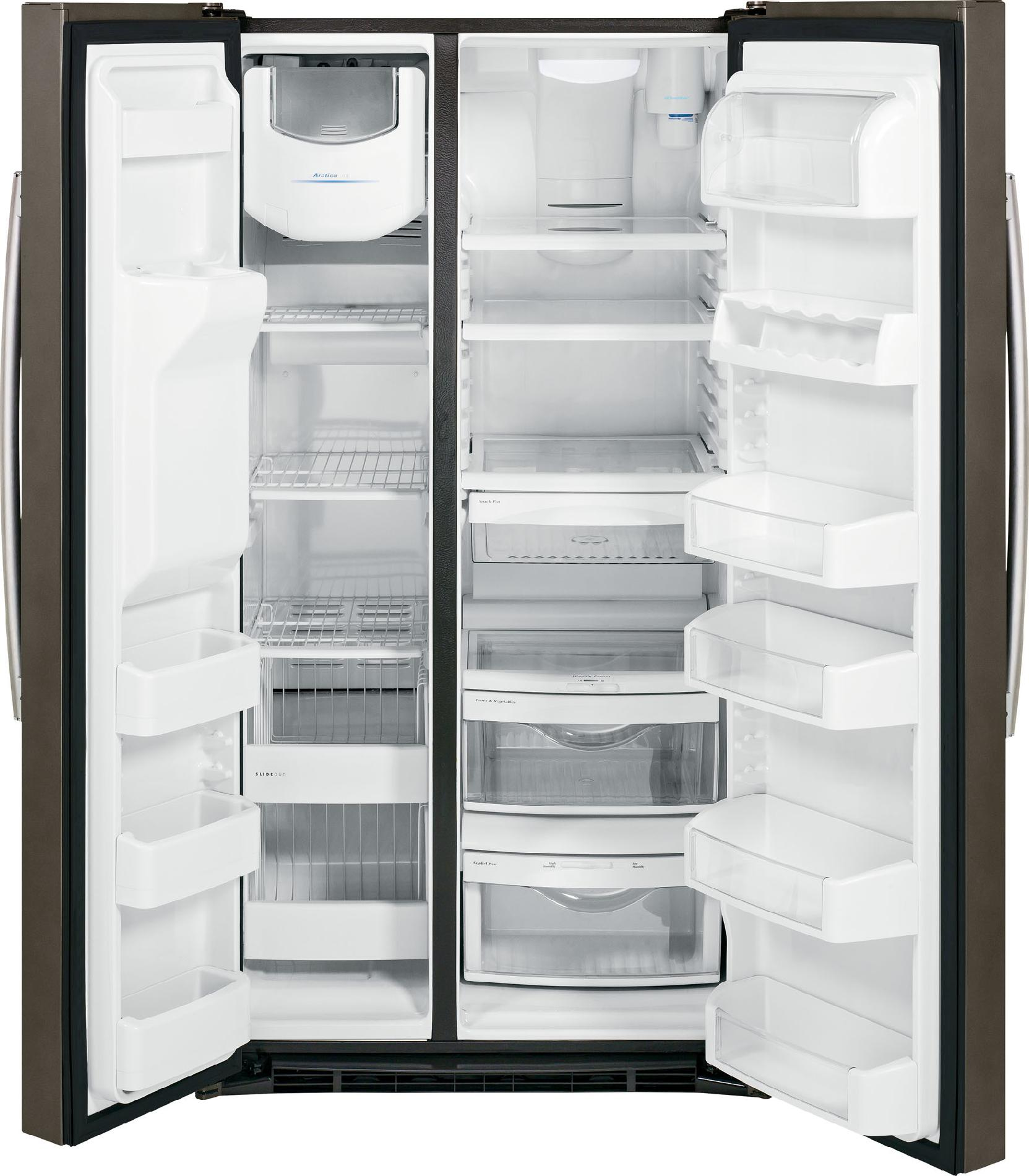 GE 25.9 cu. ft. Side-by-Side Refrigerator w/ Dispenser - Slate