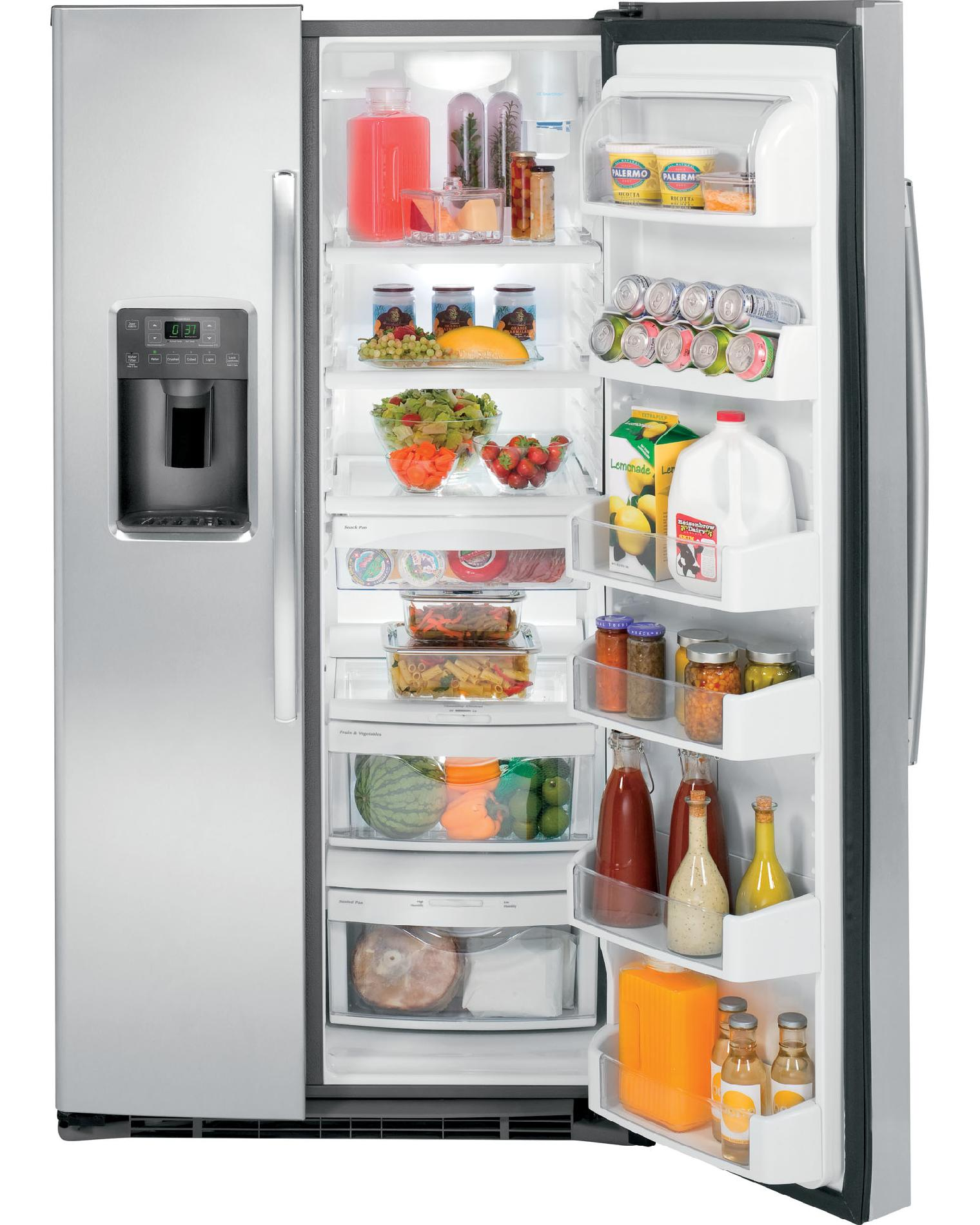 GE 25.9 cu. ft. Side-by-Side Refrigerator w/ Dispenser - Stainless Steel