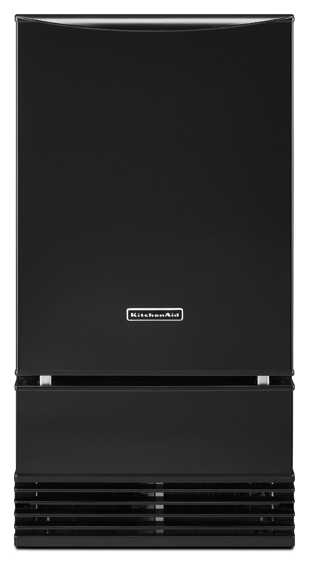 KitchenAid KUIS18PNZB 18 Ice Maker w/ Drain Pump - Black