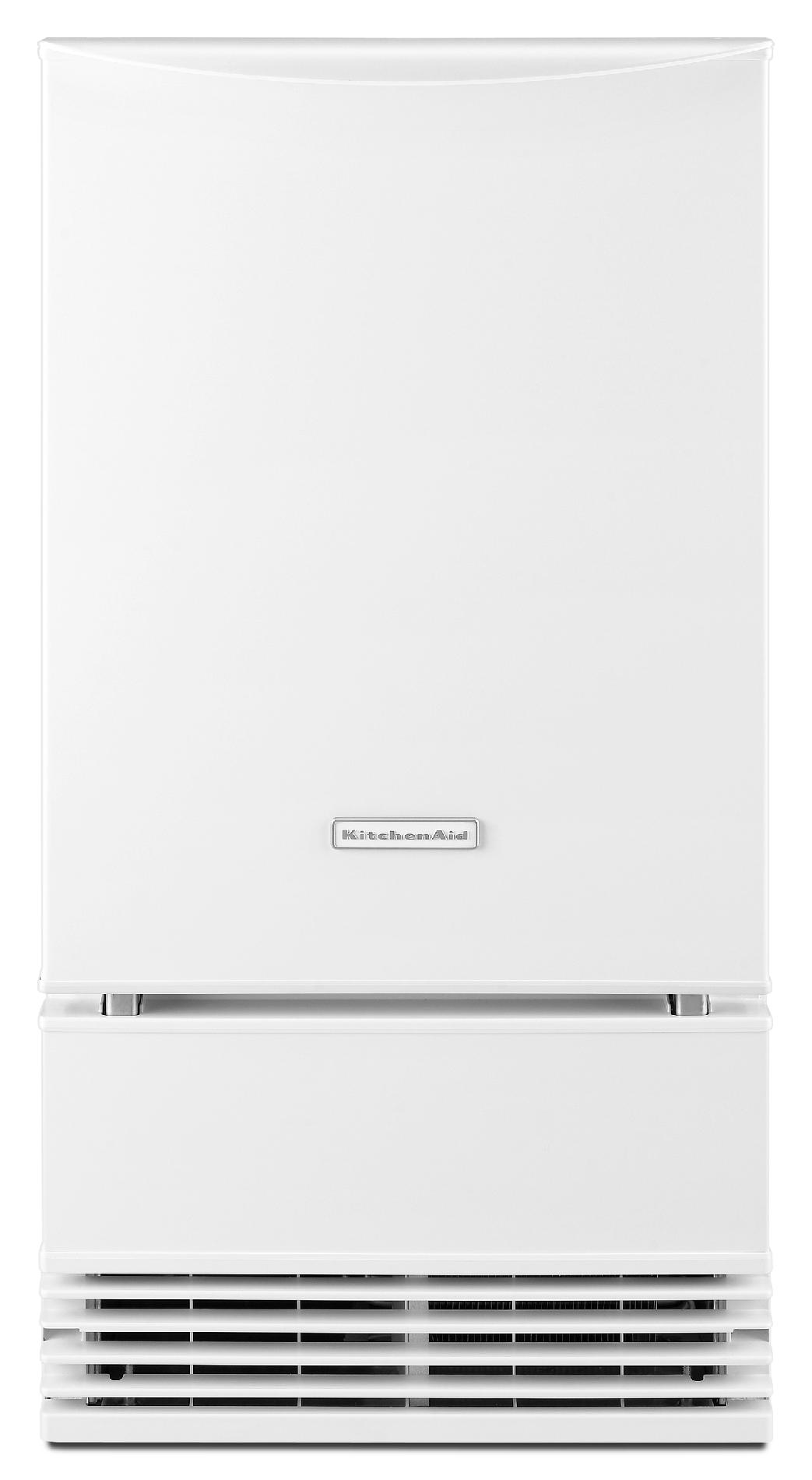 KitchenAid KUIS18PNZW 18 Ice Maker w/ Drain Pump - White