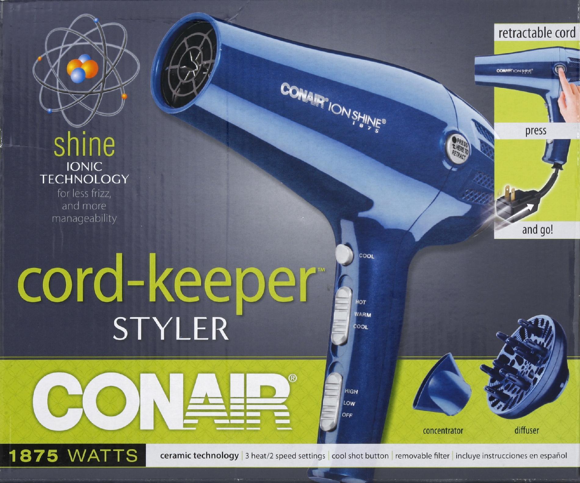 Conair Cord-Keeper Styler, 1875 Watts, 1 styler