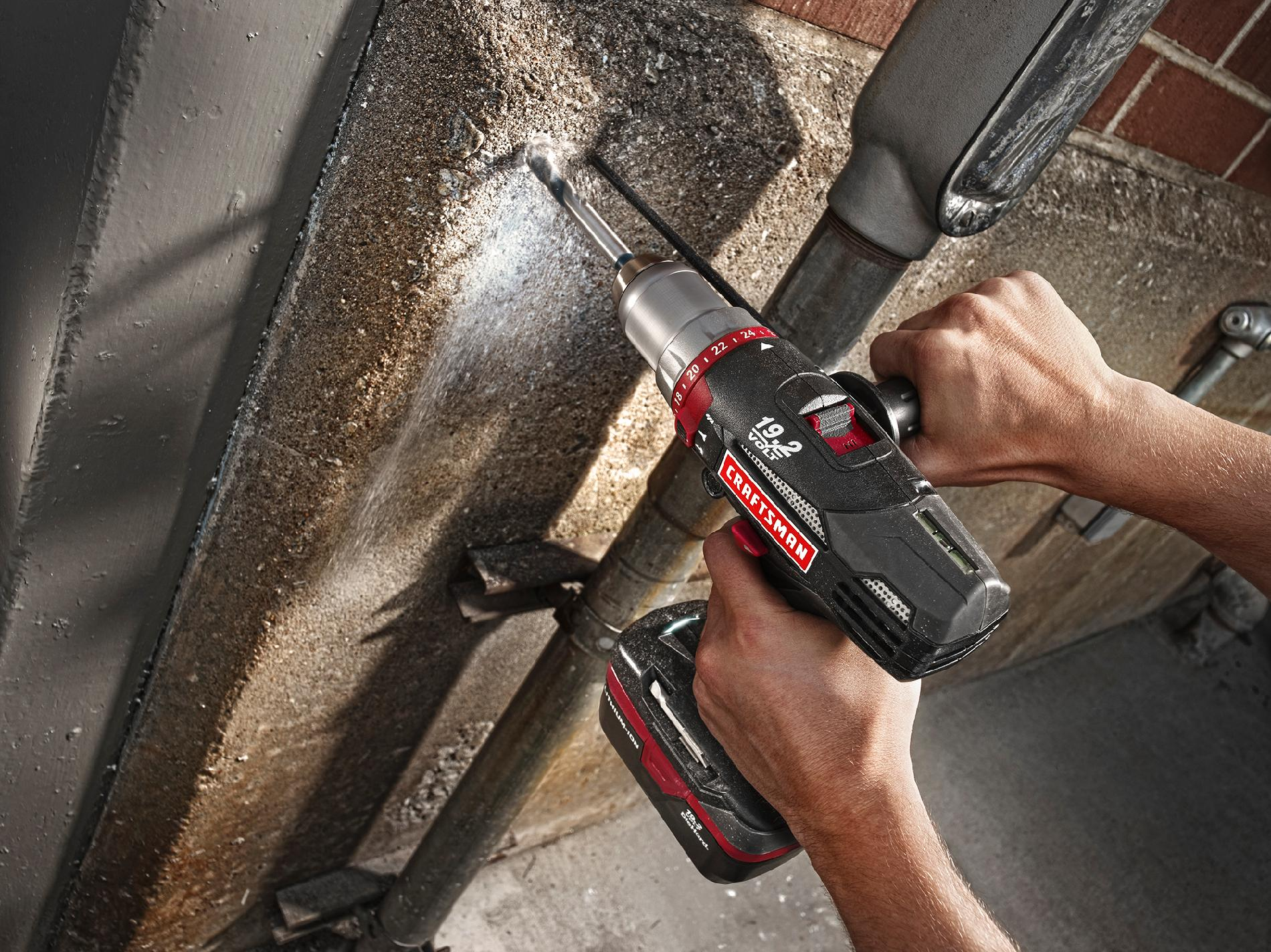Craftsman C3 19.2V Lithium-Ion Hammer Drill Kit
