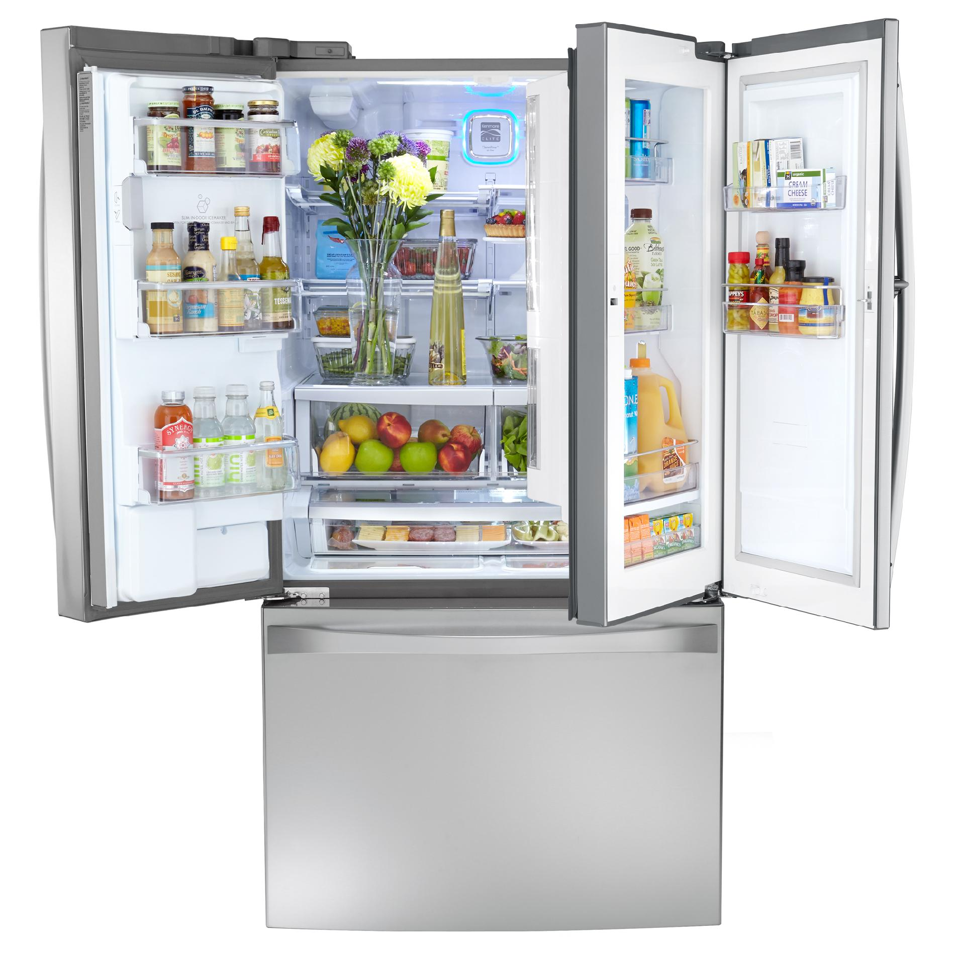 Kenmore Elite 32 cu. ft. Grab-N-Go™ French Door Bottom-Freezer Refrigerator - Stainless Steel
