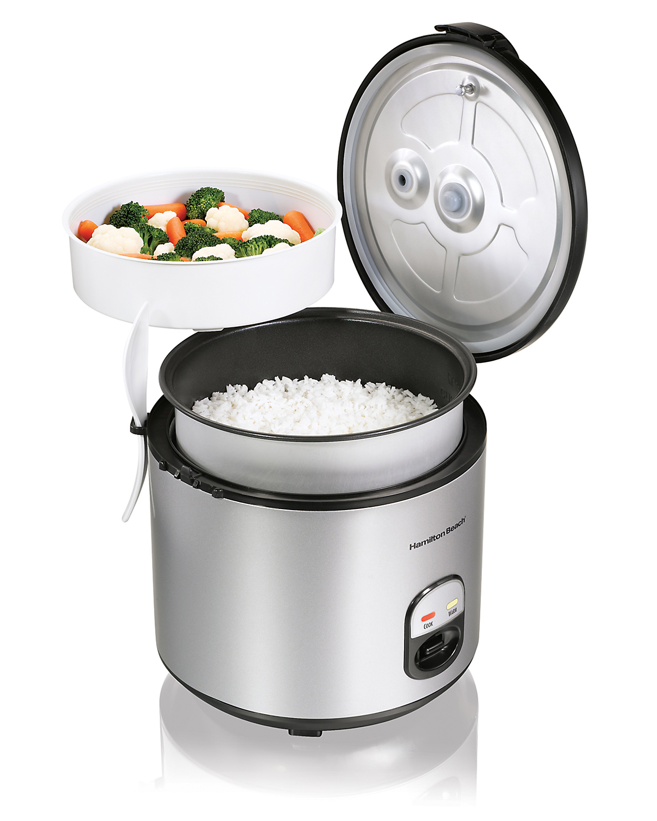Hamilton Beach 4 to 20 Cup Rice Cooker & Food Steamer