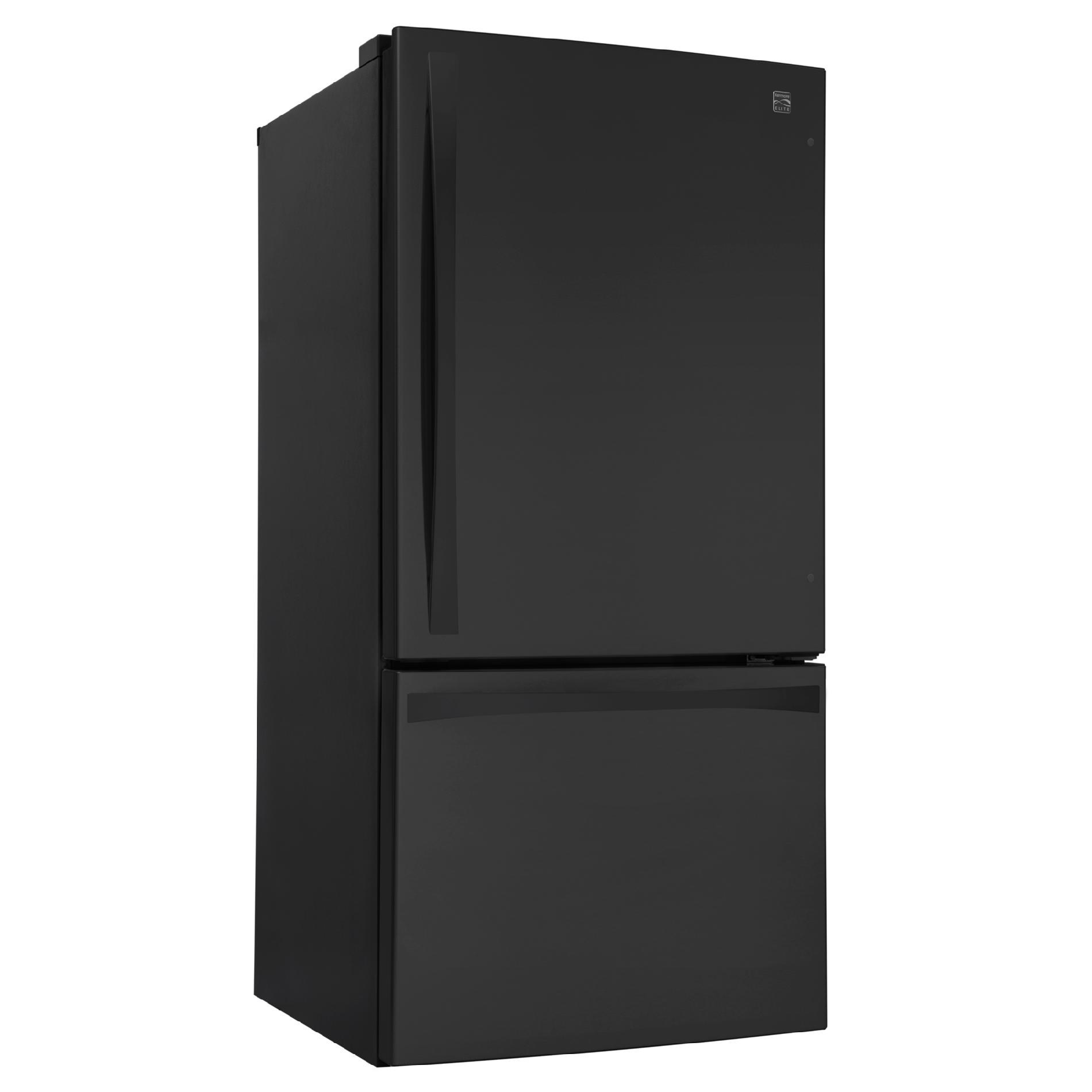 Kenmore Elite 24 cu. ft. Bottom-Freezer Refrigerator – Black