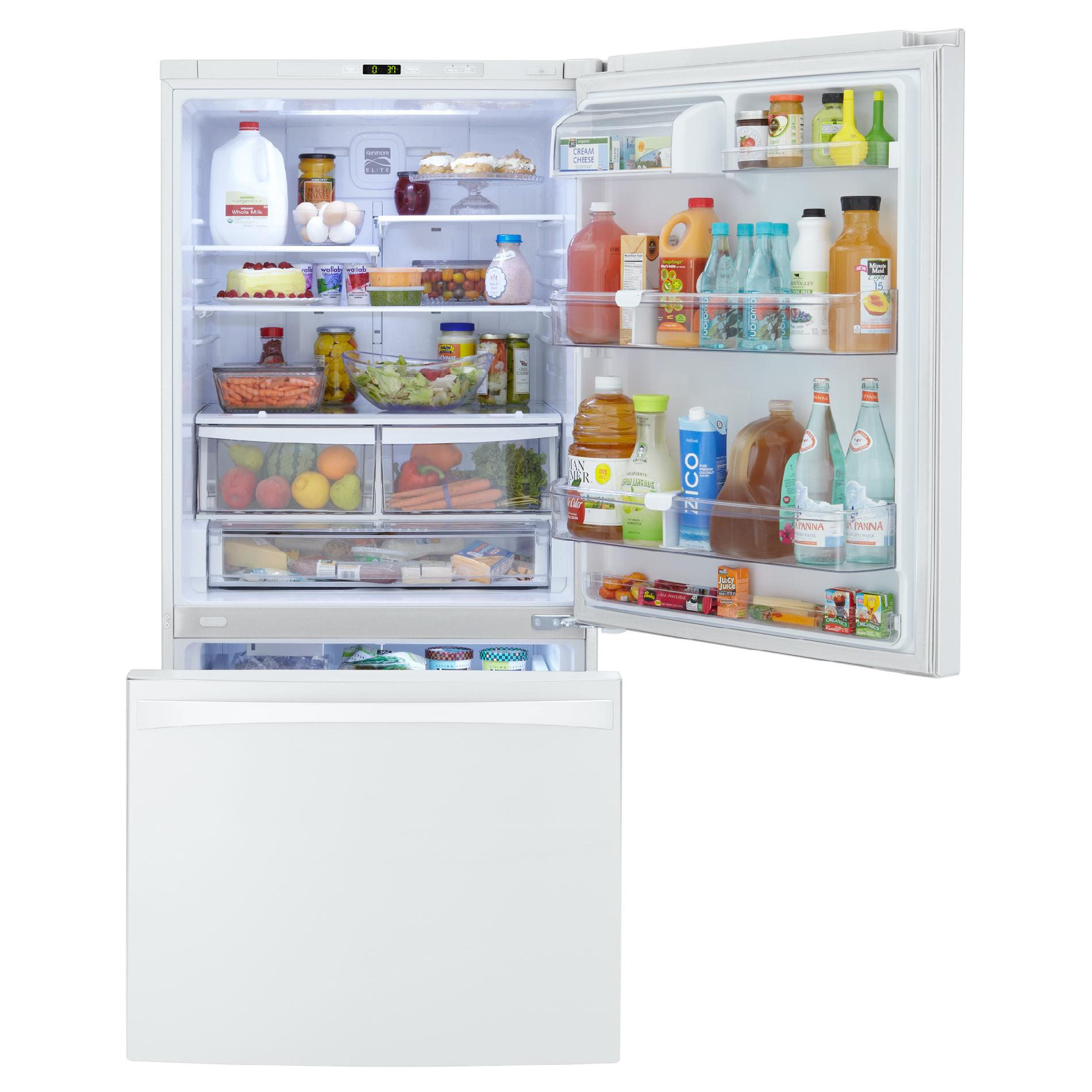 Kenmore Elite 24 cu. ft. Bottom-Freezer Refrigerator – White