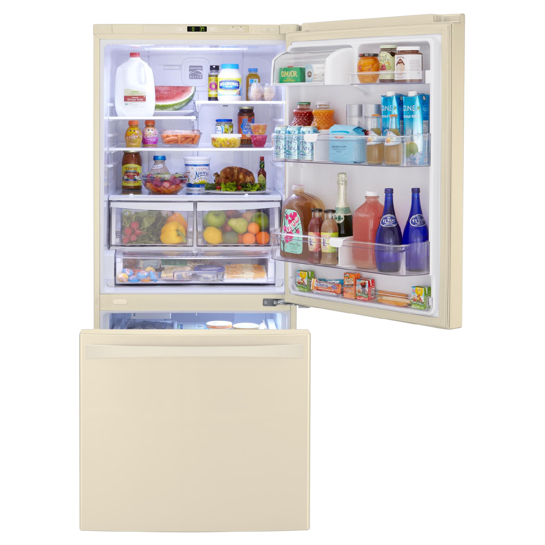 Kenmore Elite 79024 22.1 cu. ft. Bottom-Freezer Refrigerator – Bisque