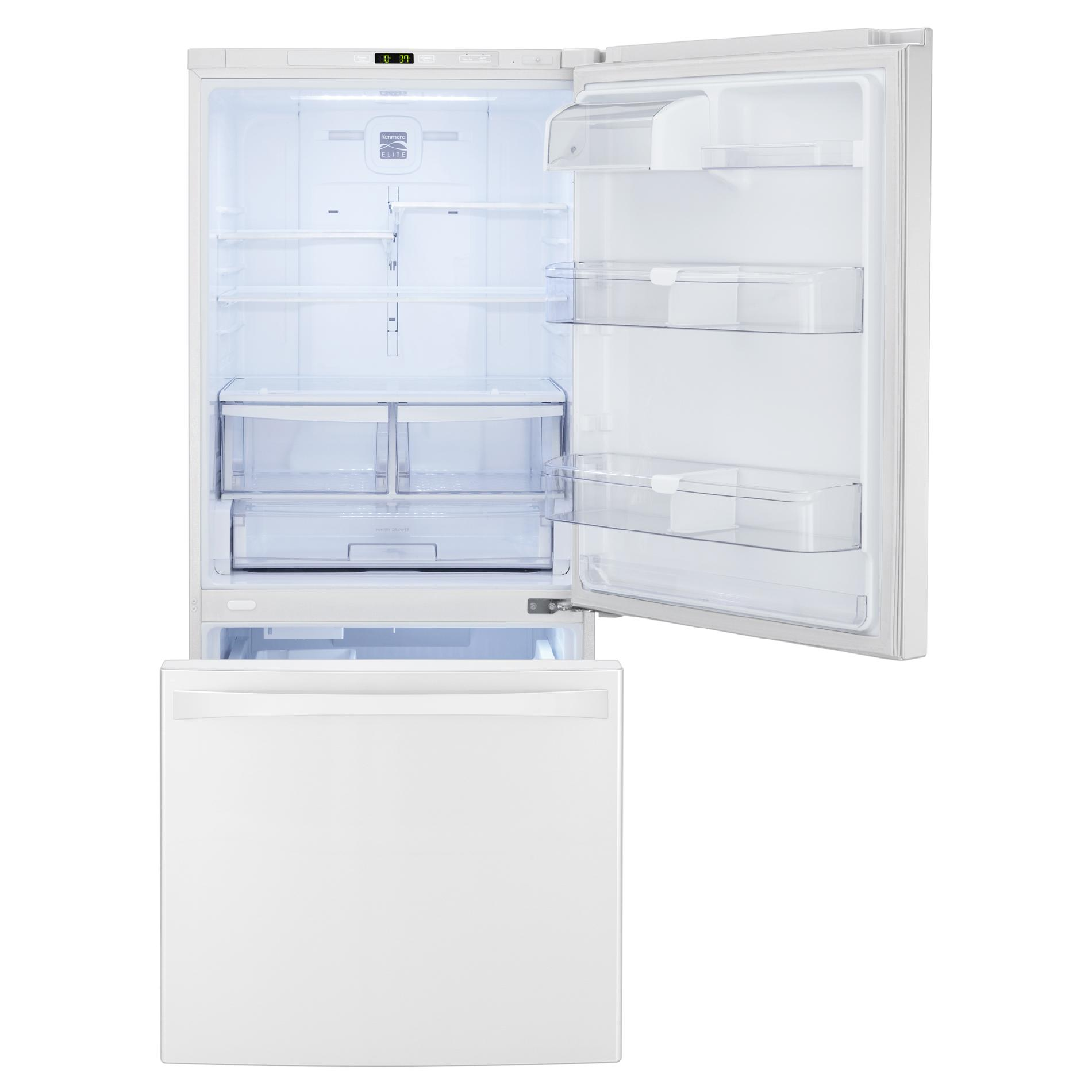 Kenmore Elite 79022 22.1 cu. ft. Bottom-Freezer Refrigerator – White