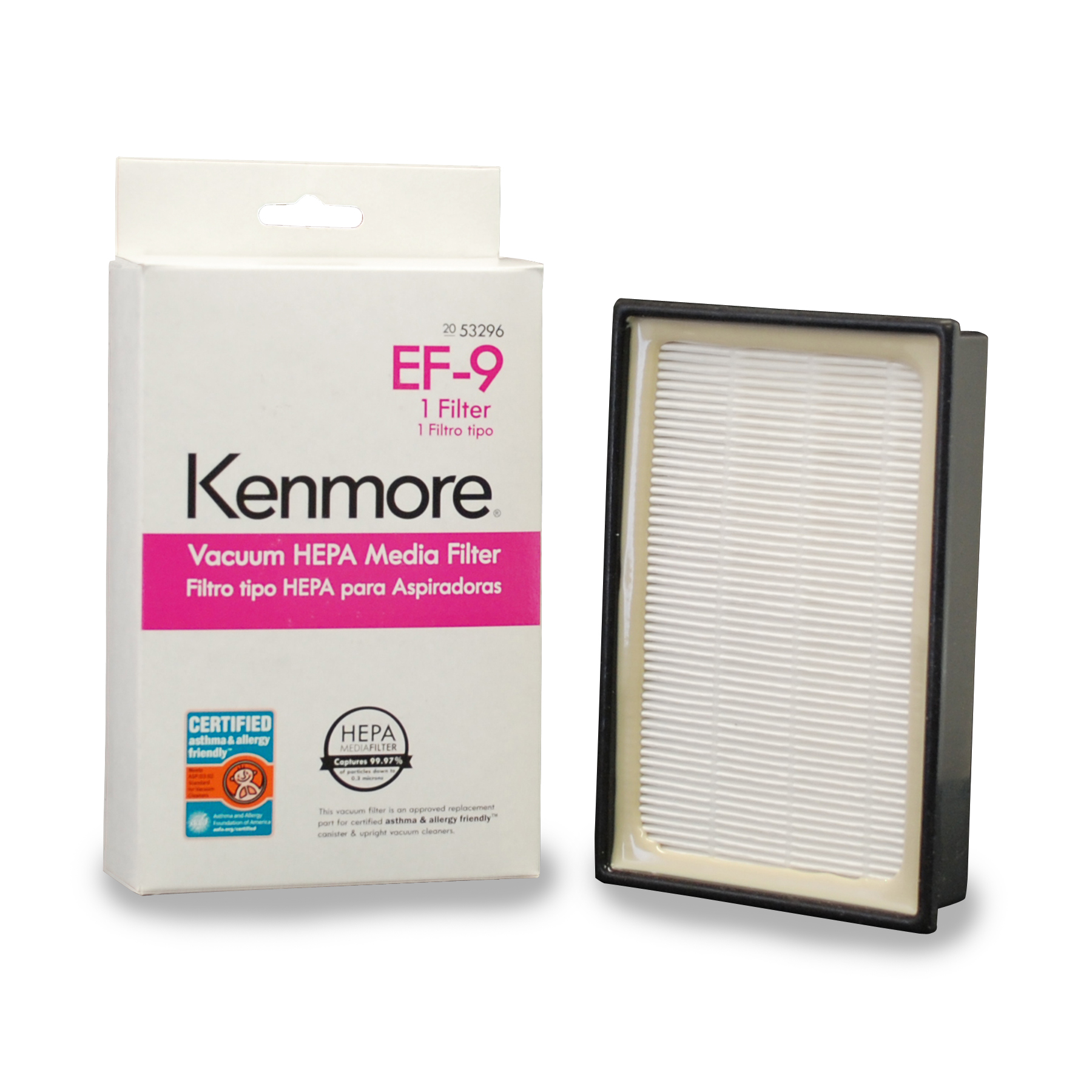 Kenmore 53296 HEPA Vacuum Media Filter EF-9