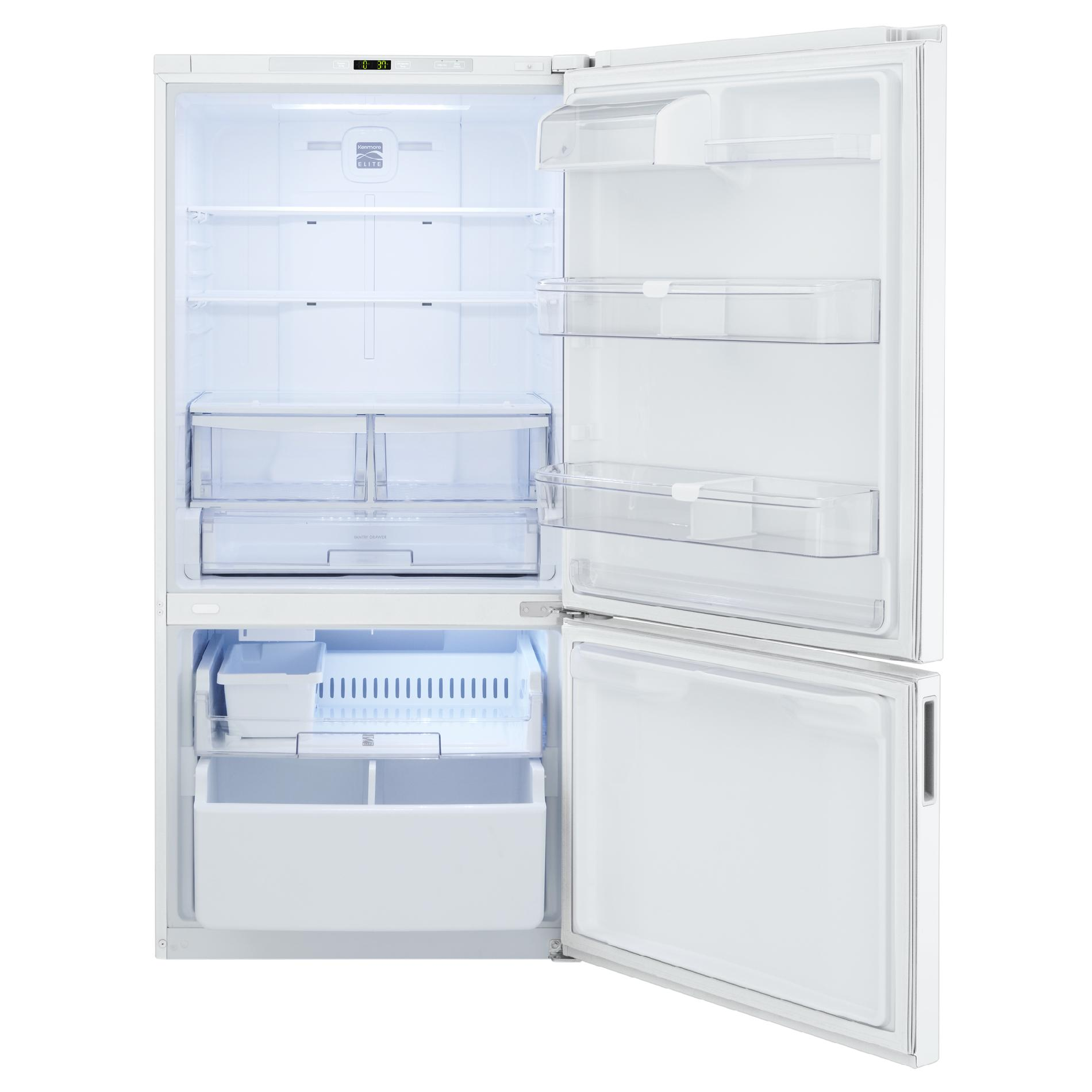 Kenmore Elite 24.1 cu. ft. Bottom-Freezer Refrigerator - White