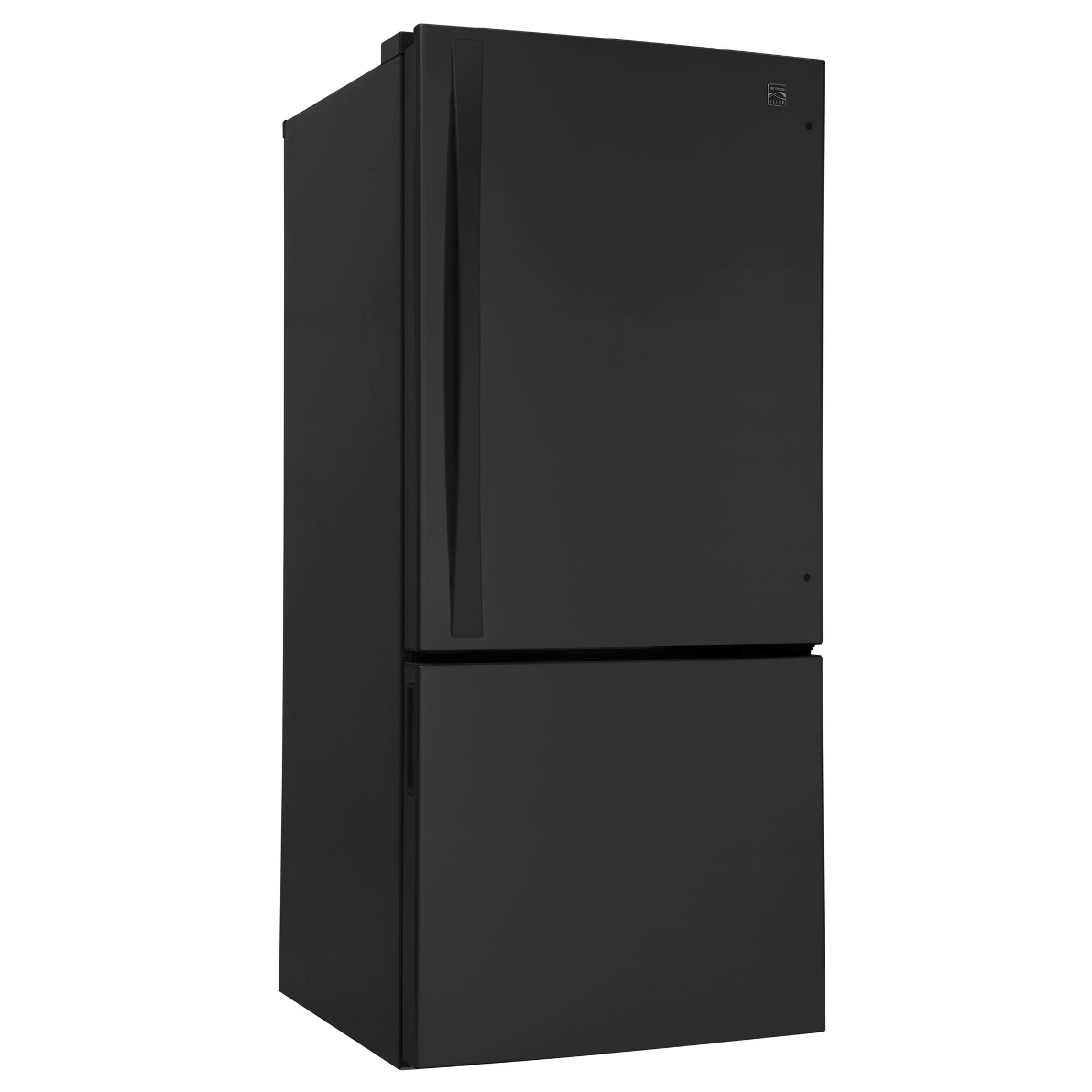 Kenmore Elite 22 cu. ft. Bottom-Freezer Refrigerator - Black