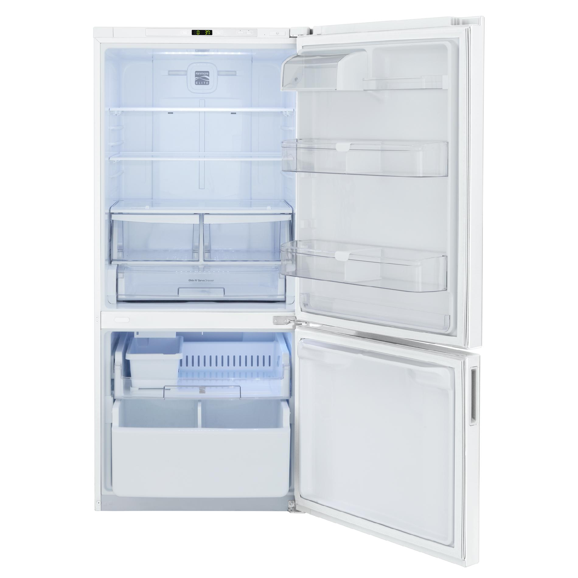 Kenmore Elite 22 cu. ft. Bottom-Freezer Refrigerator - White