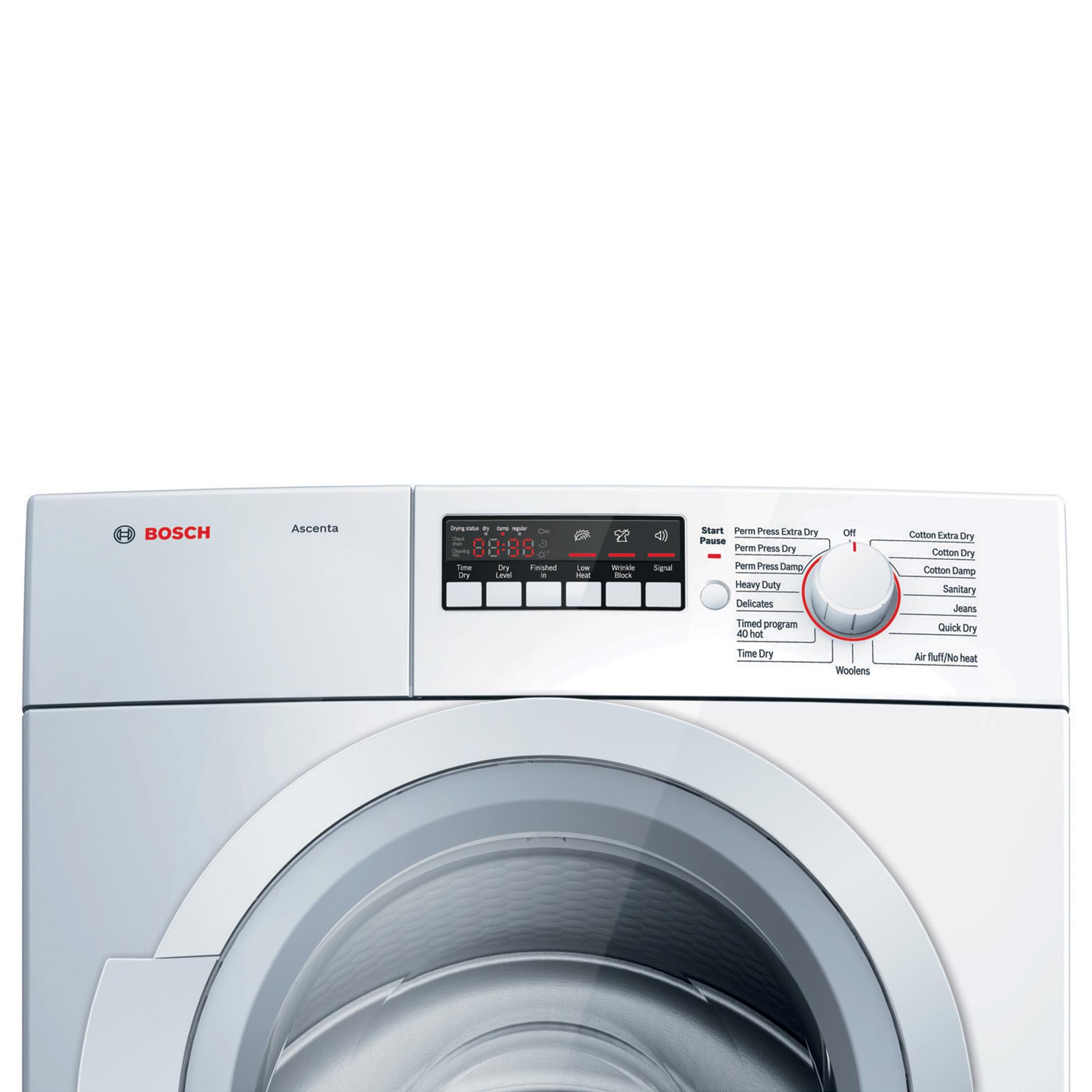 Bosch Ascenta 4.0 cu. ft. Condensation Electric Dryer - White