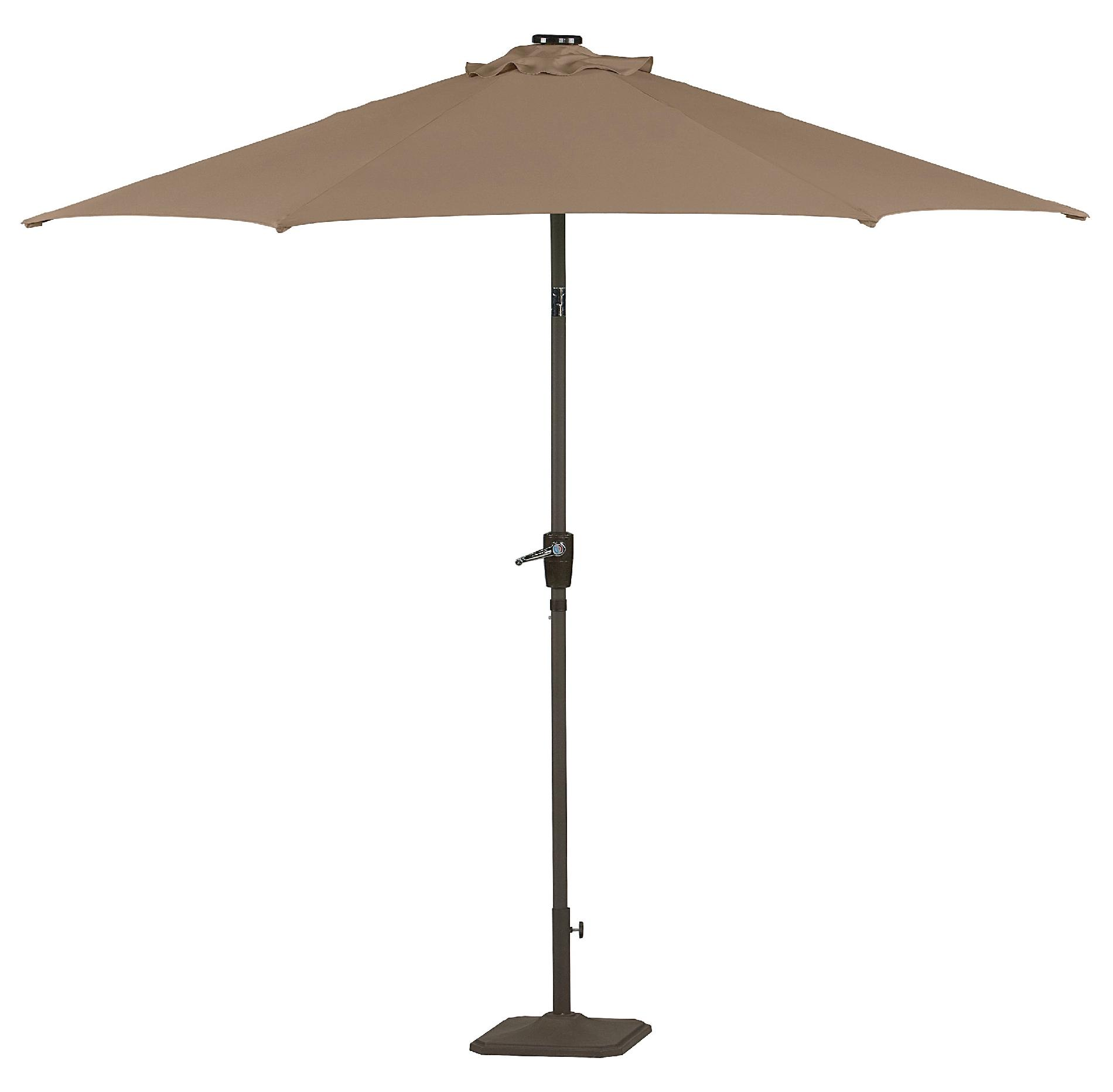 Garden Oasis 9' Solar Lighted Umbrella