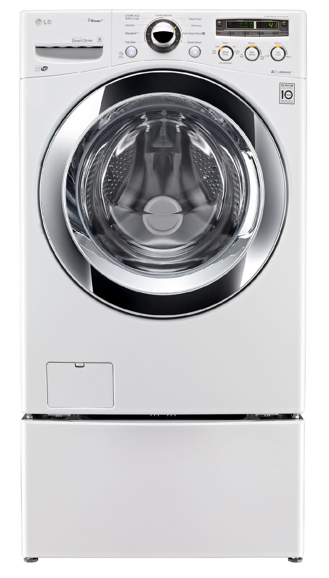 LG 4.0 cu. ft. Front-Load Washer w/ Steam™ Technology - White