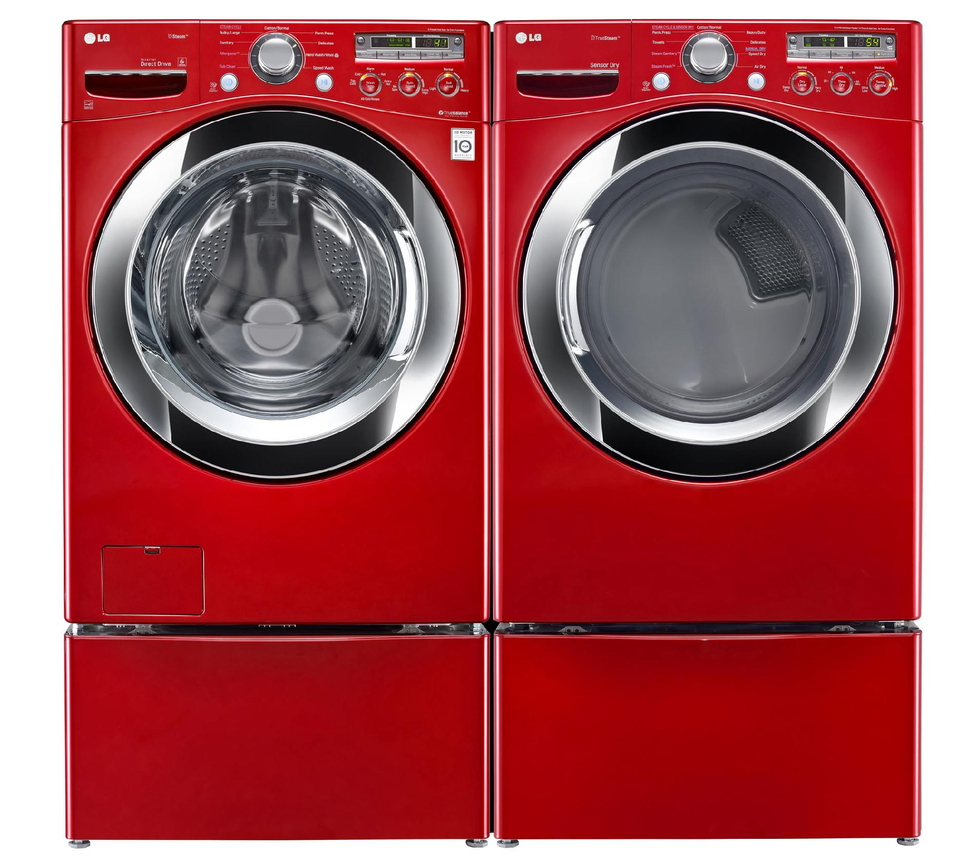 LG 4.0 cu. ft. Front-Load Washer w/ Steam™ Technology - Wild Cherry Red