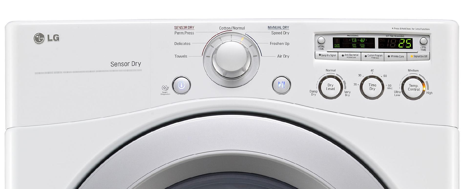 LG 7.3 cu. ft. Gas Dryer w/ Sensor Dry - White