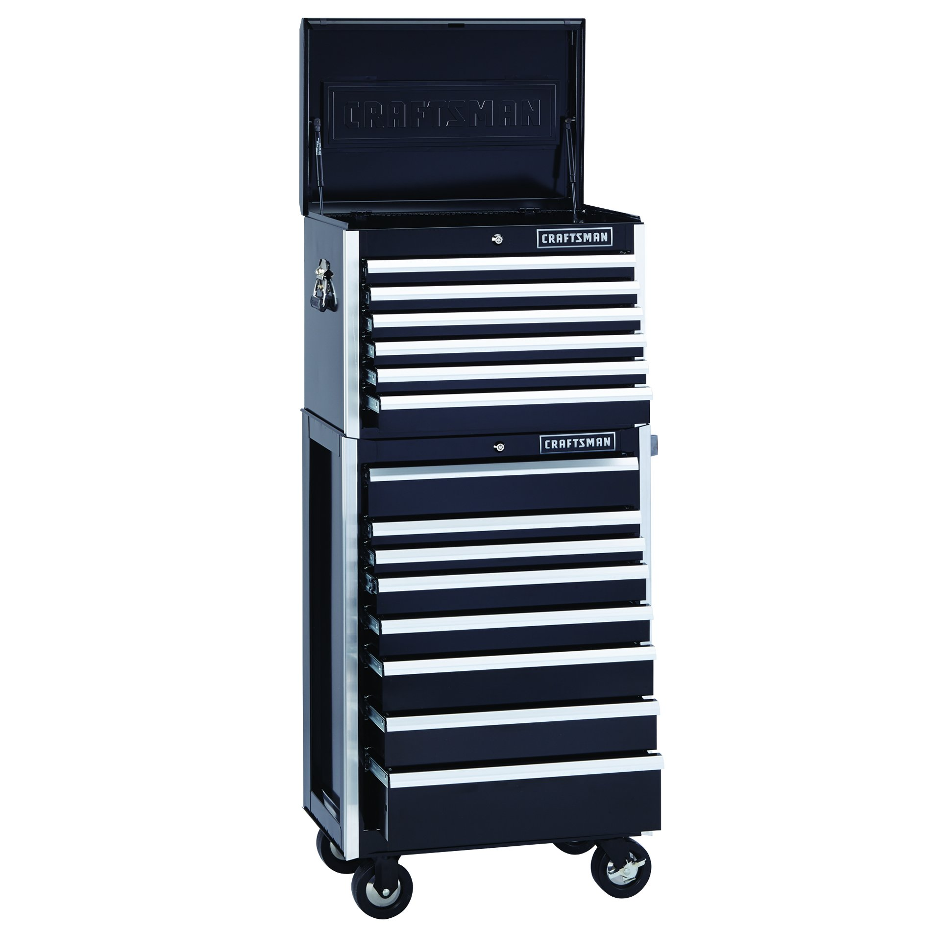 Craftsman EDGE Series 26-in. 8-Drawer Premium Heavy-Duty Ball-Bearing Rolling Cabinet - Black