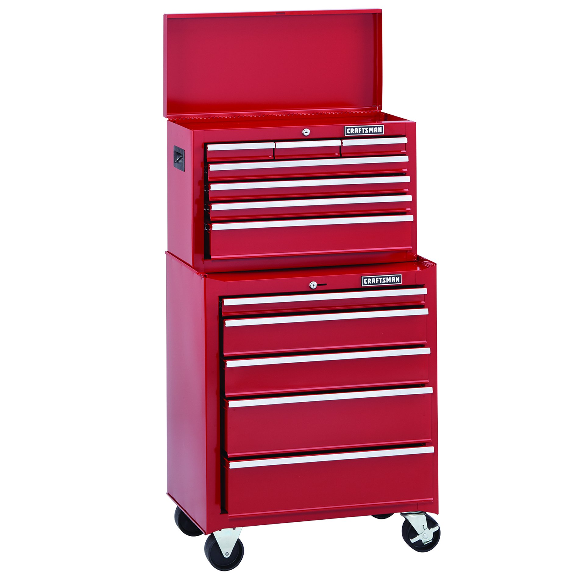 "Craftsman Home Series 26"" Wide 7-Drawer Top Chest - Red"