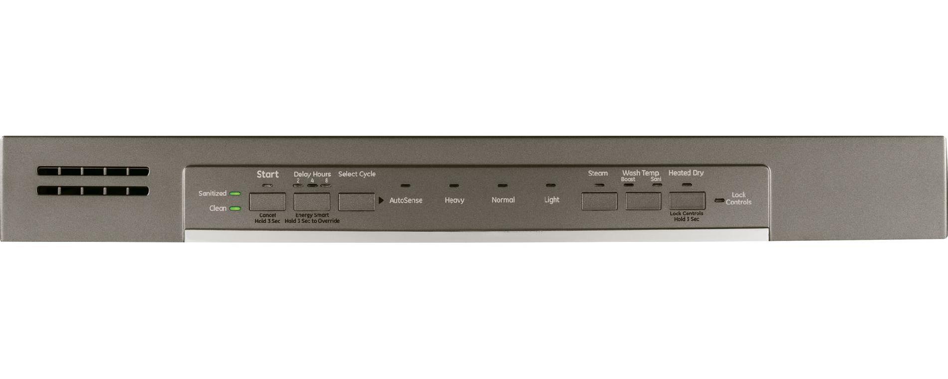 "GE 24"" Hybrid Dishwasher w/ Front Controls - Slate"