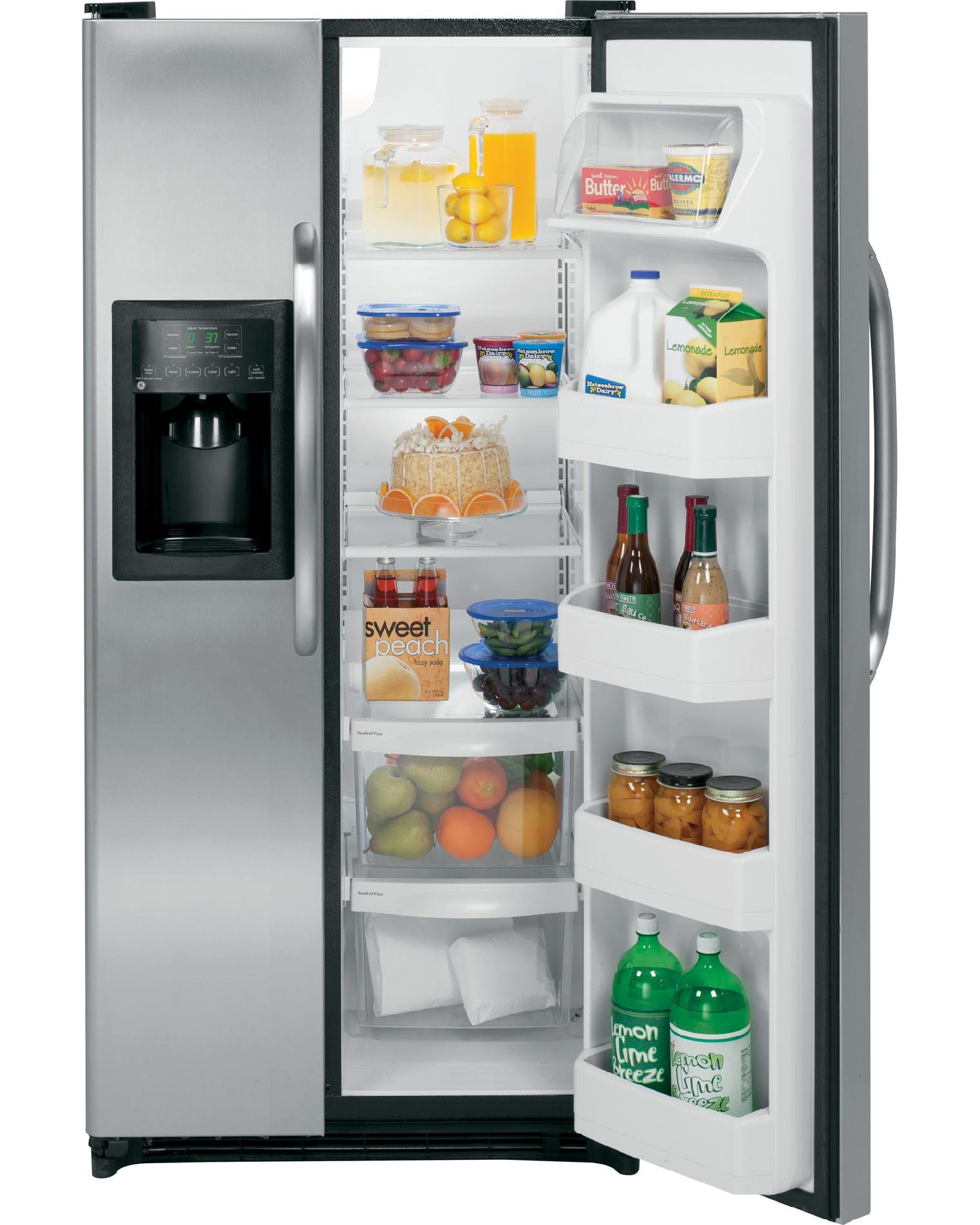 GE 20 cu. ft. Side-By-Side Refrigerator w/ Dispenser - Stainless Steel
