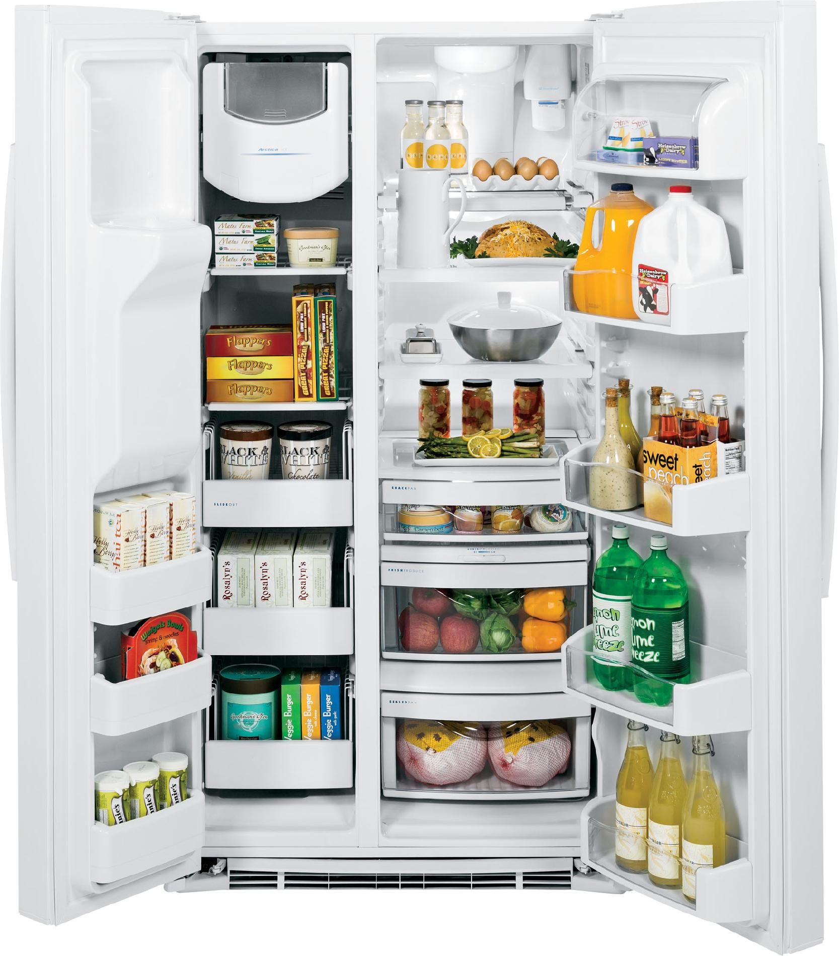 GE Profile 25.9 cu. ft. Side-by-Side Refrigerator w/ Turbo Cool - White