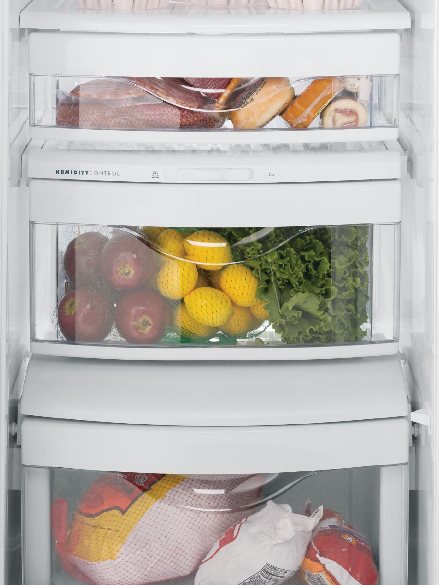 GE 22.7 cu. ft. Counter-Depth Side-by-Side Refrigerator w/ Dispenser - White