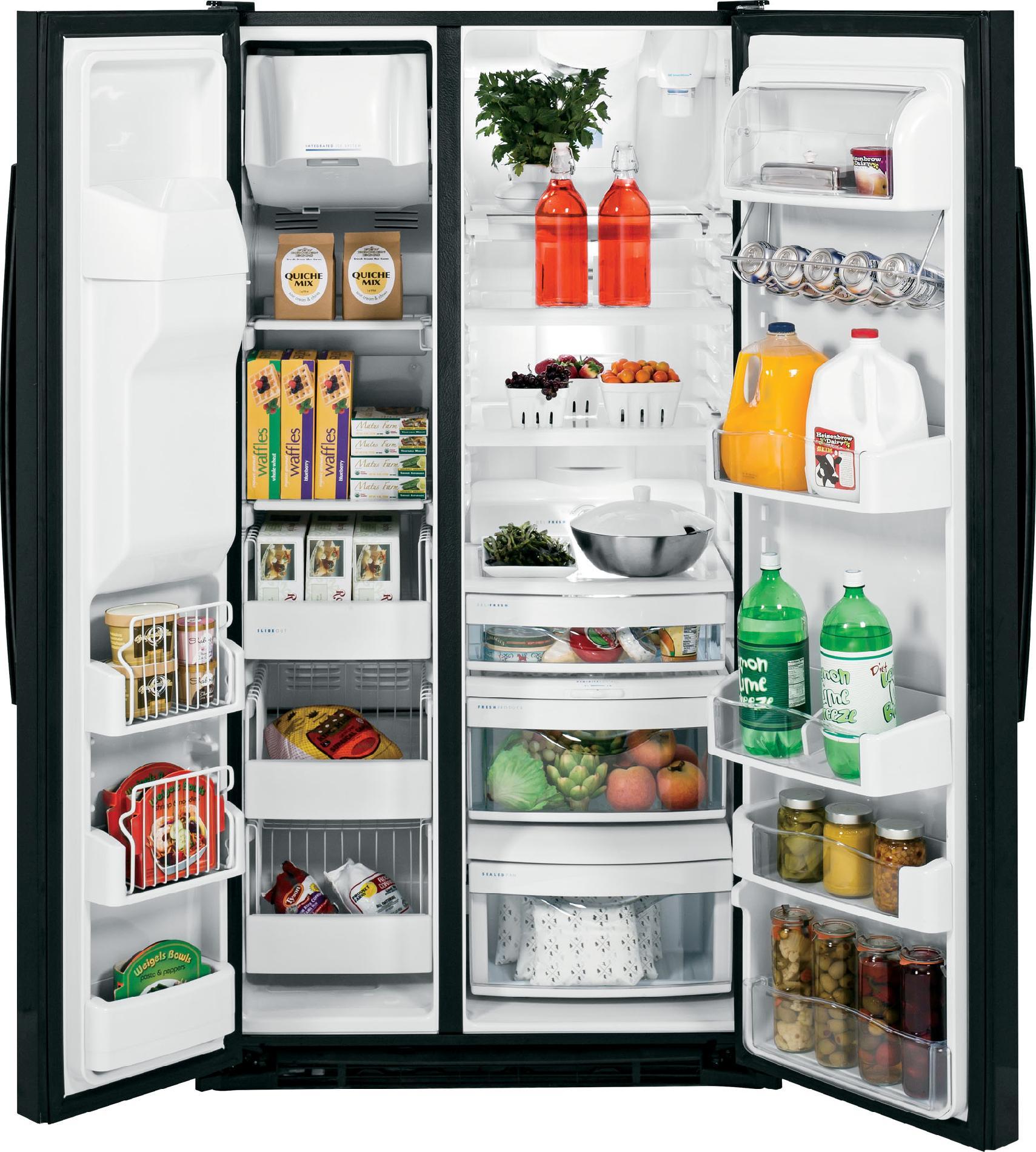 GE Profile 23.3 cu. ft. Counter-Depth Side-by-Side Refrigerator - Black