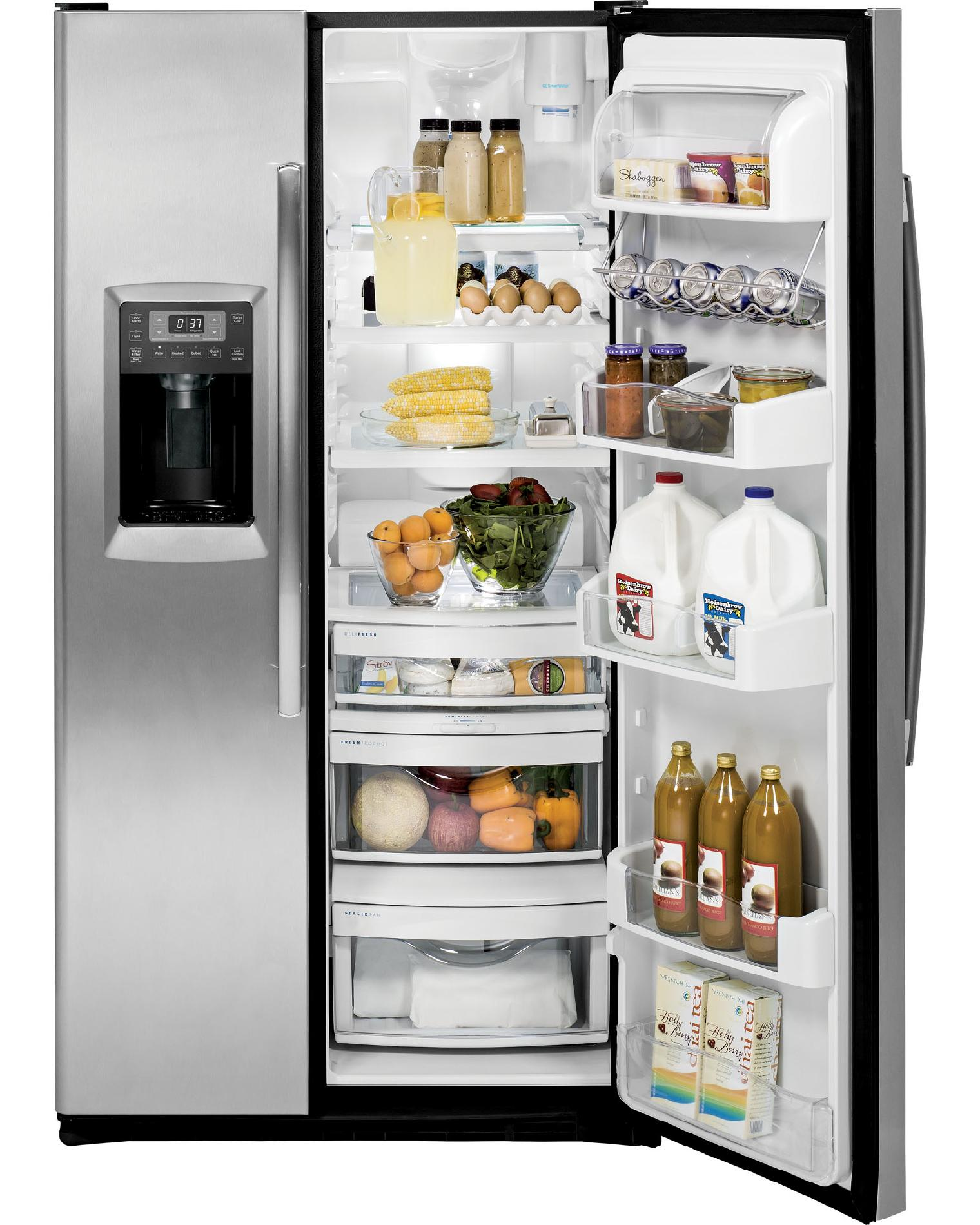 GE Profile 23.3 cu. ft. Counter-Depth Side-by-Side Refrigerator - Stainless Steel