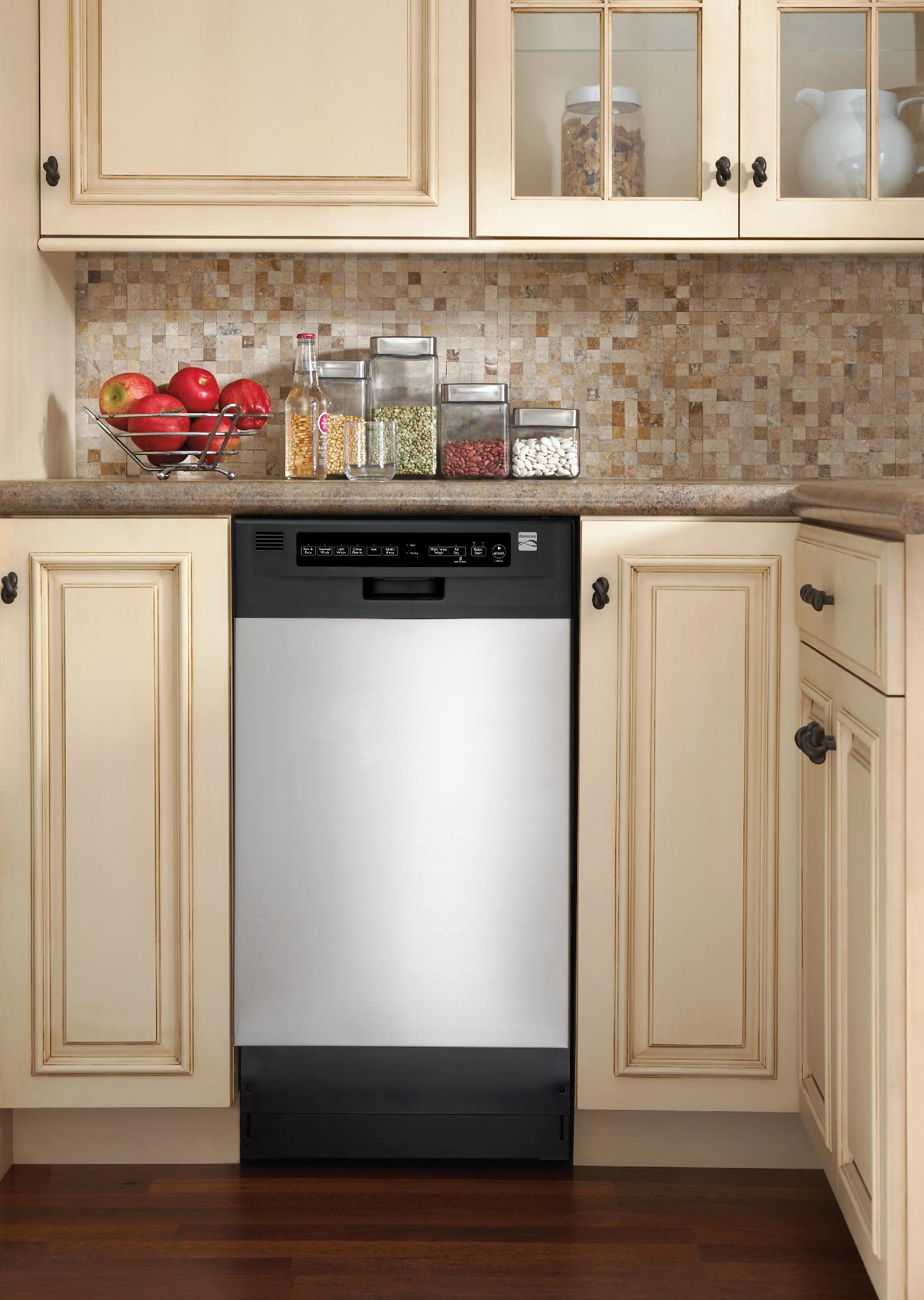 "Kenmore 18"" Built-In Dishwasher - Stainless Steel"