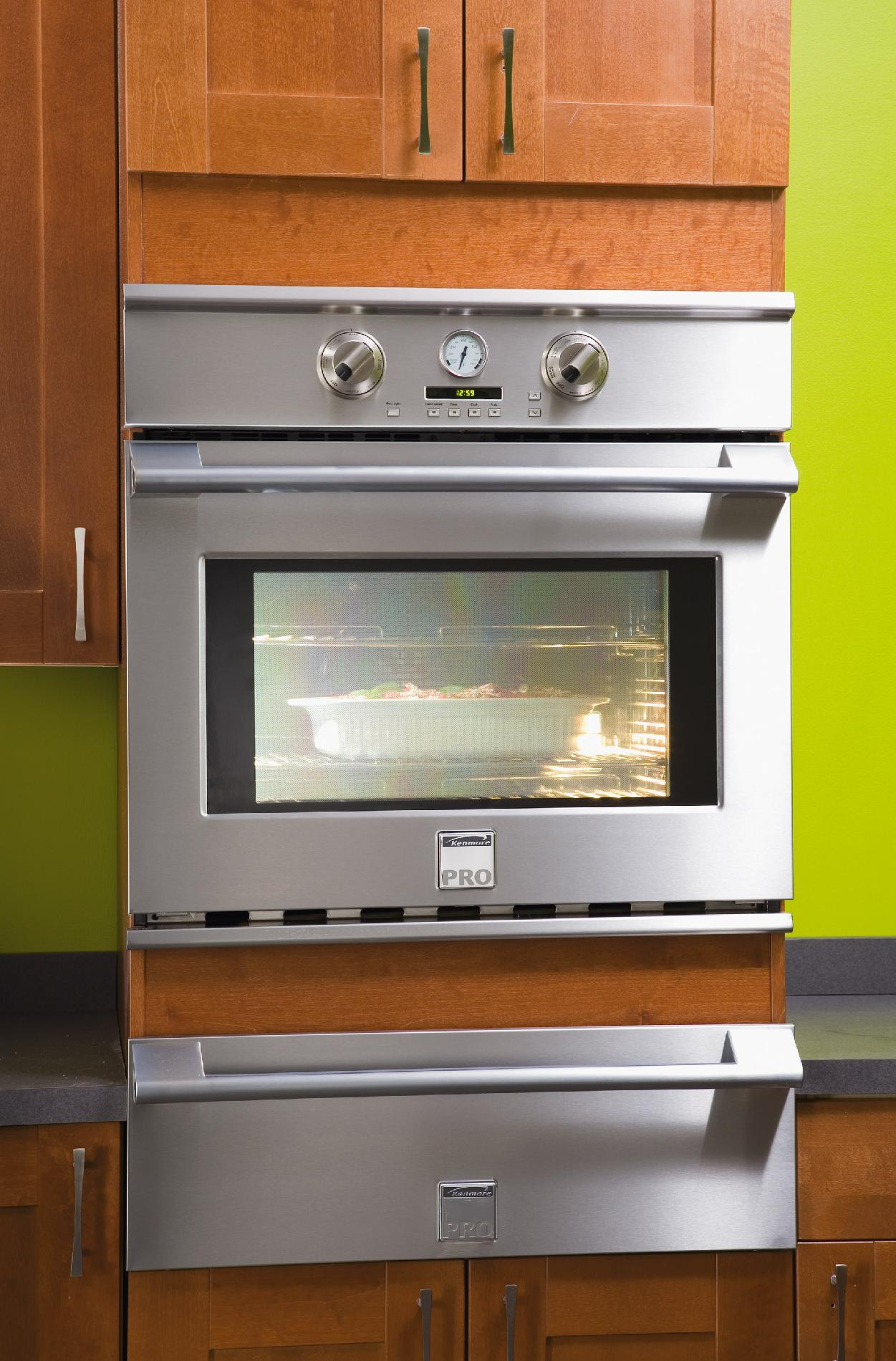 """Kenmore Pro 30"""" Electric Self-Clean Single Wall Oven - Stainless Steel"""