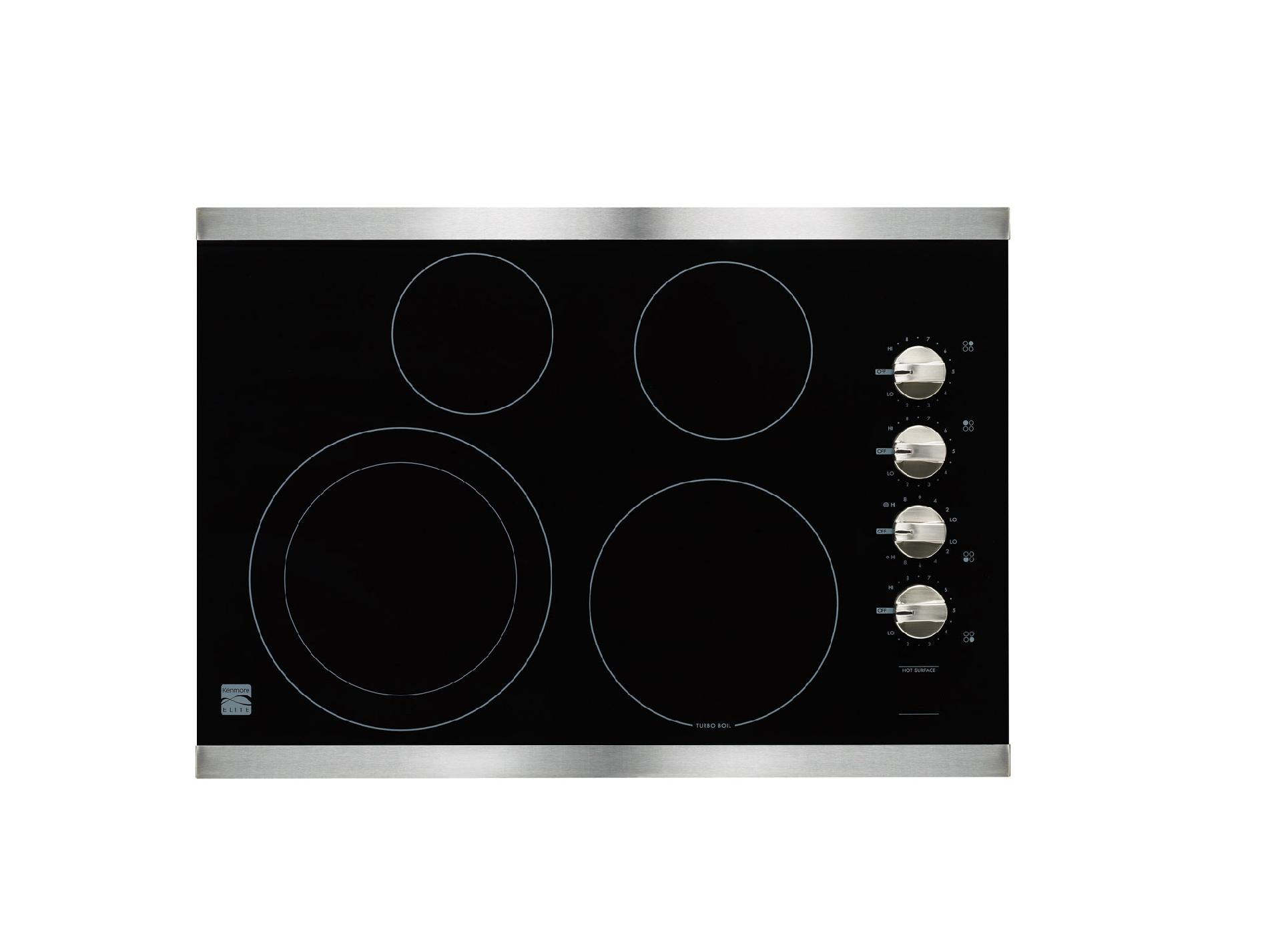 "Kenmore Elite 30"" Electric Cooktop -Stainless Steel"