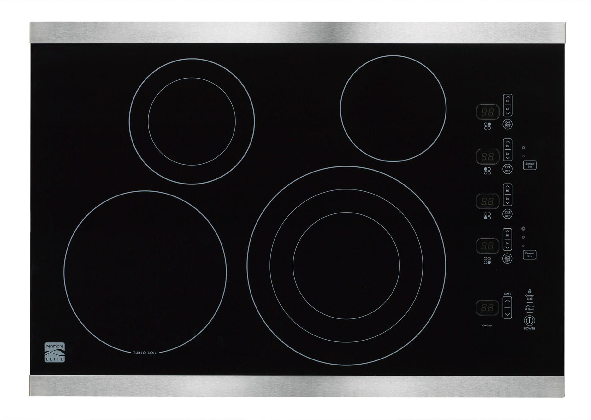 "Kenmore Elite 30"" Electric Cooktop - Stainless Steel"