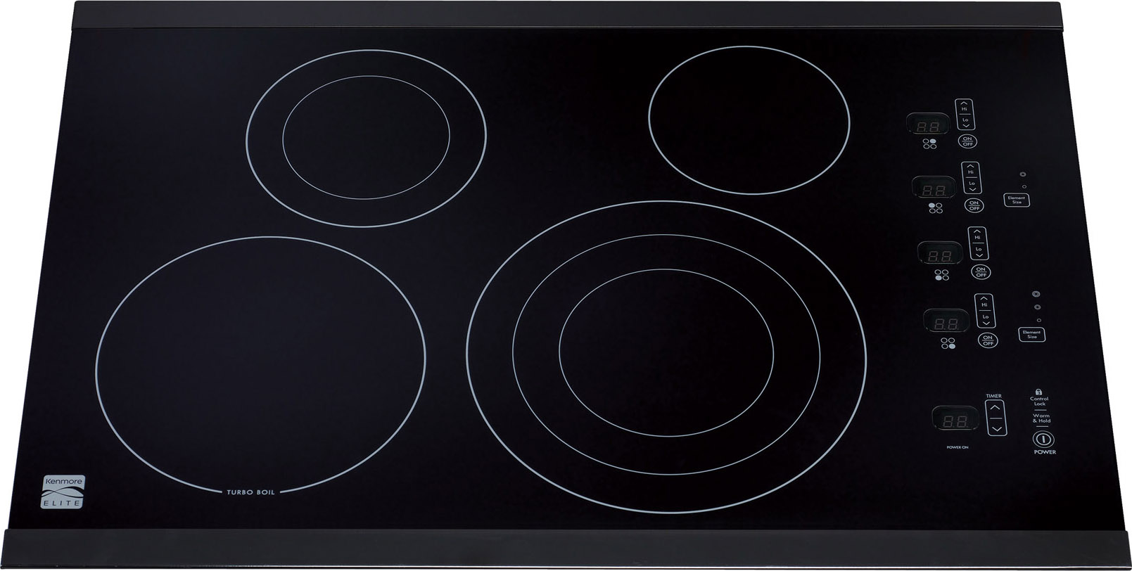 "Kenmore Elite 30"" Electric Cooktop - Black"
