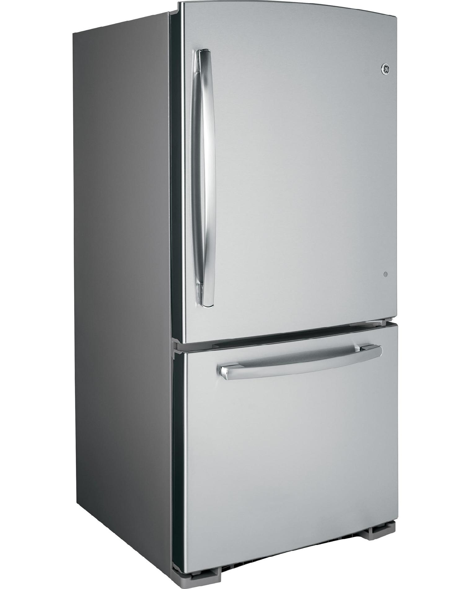 GE Appliances 20.2 cu. ft. Built-in Bottom-Freezer Refrigerator - Stainless Steel