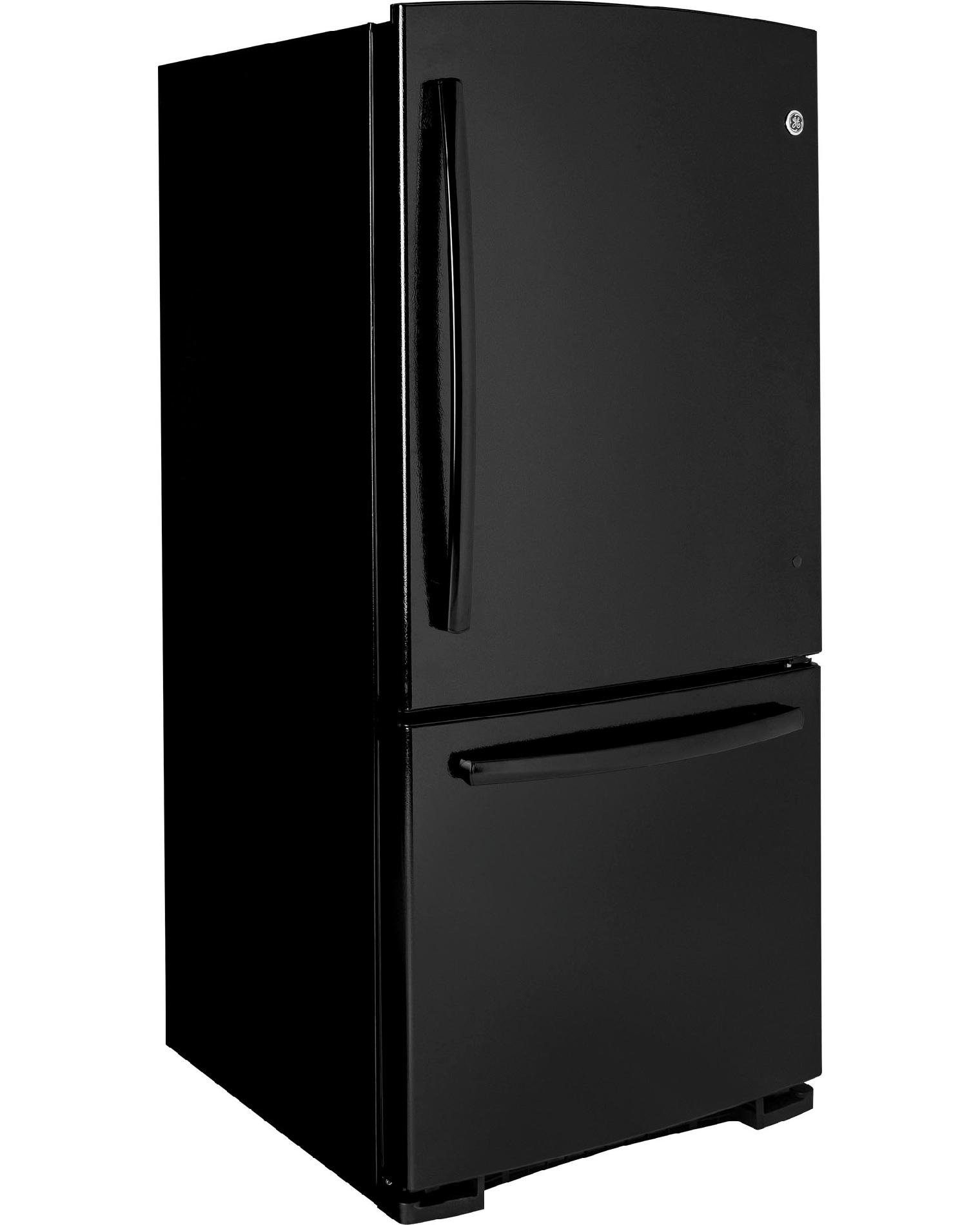 GE 20.2 cu. ft. Built-in Bottom-Freezer Refrigerator - Black