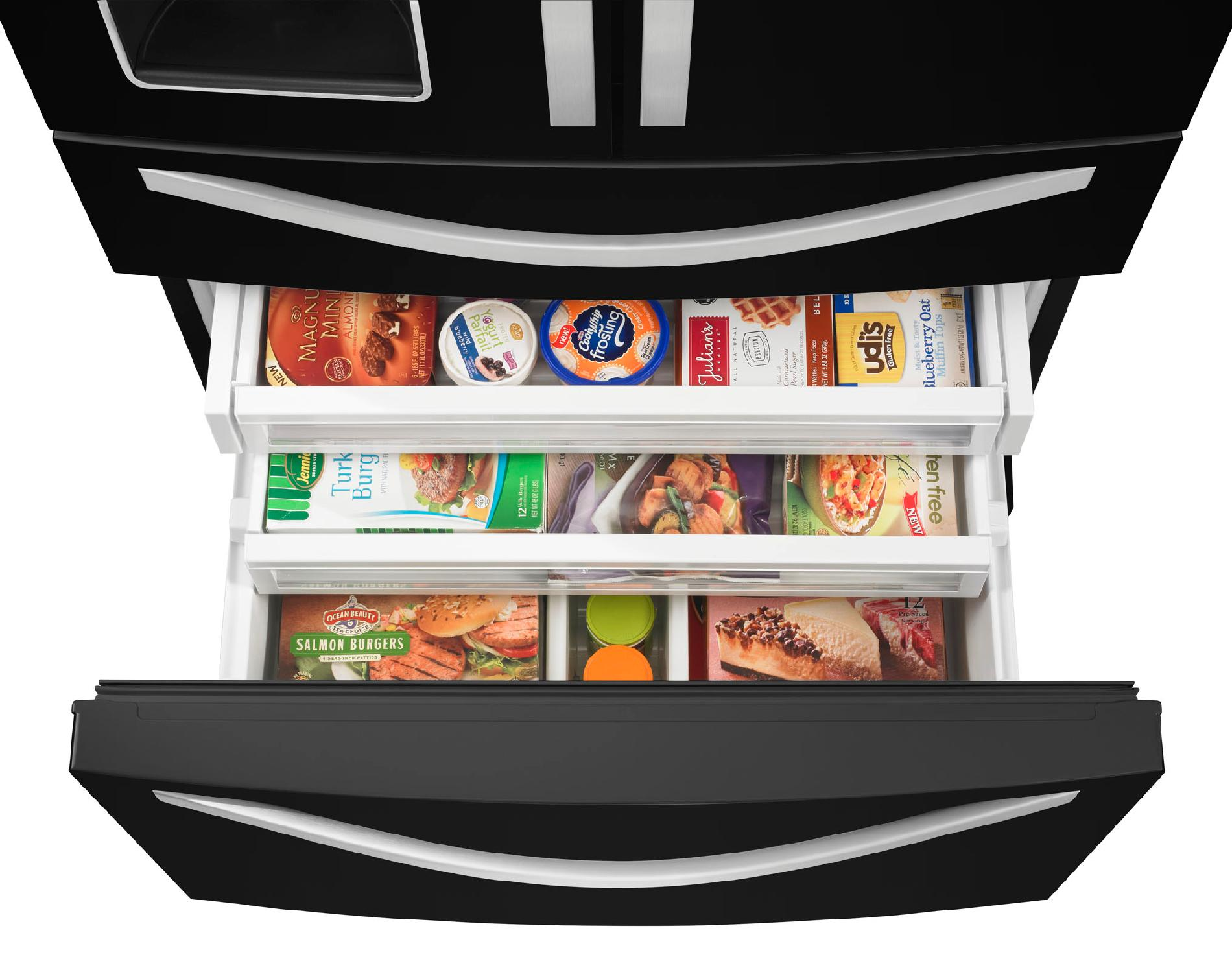 Whirlpool 28.1 cu. ft. French Door Refrigerator w/ Most Flexible Storage - Black Ice