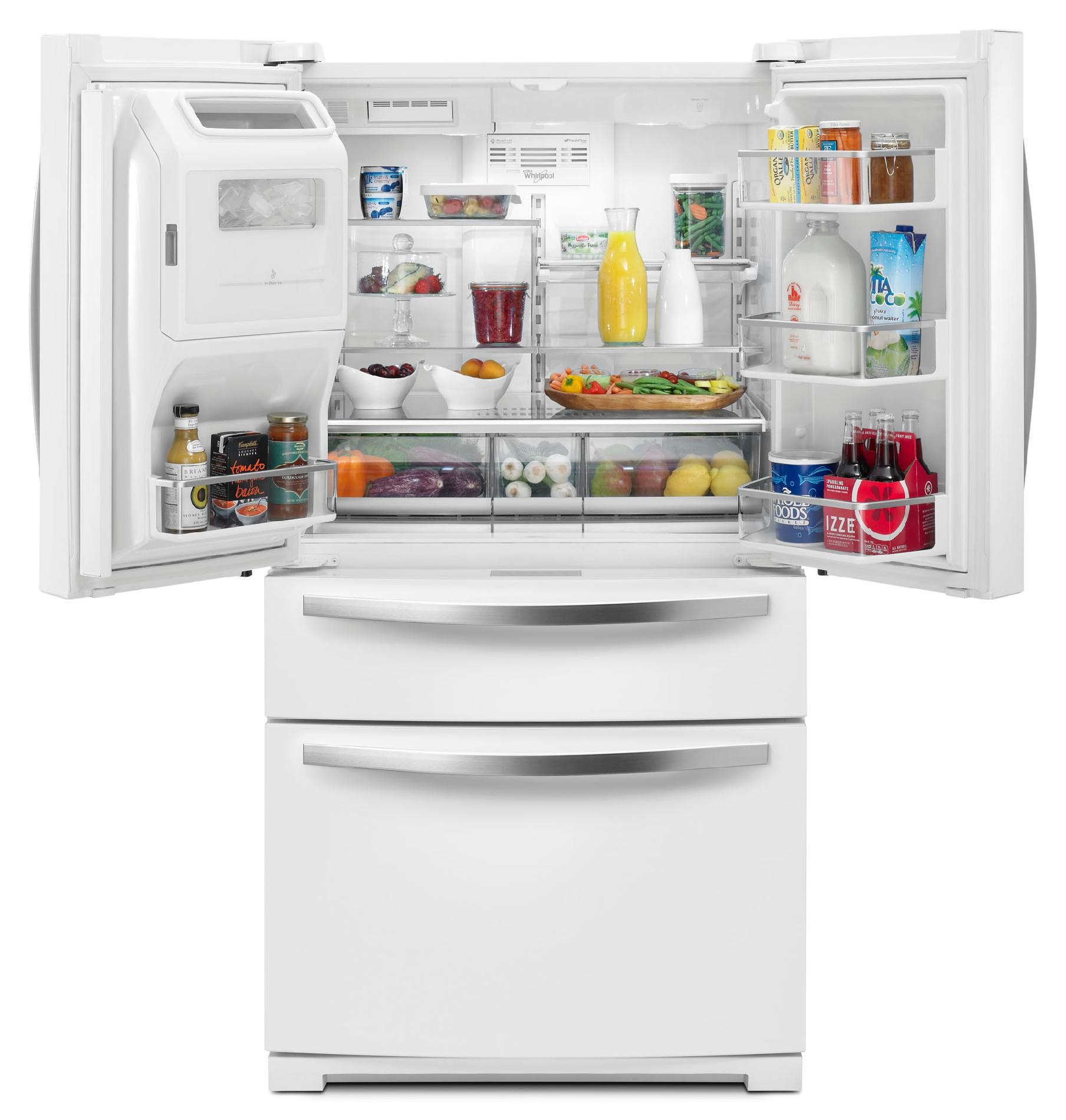 Whirlpool 28.1 cu. ft. French Door Refrigerator w/ Most Flexible Storage - White Ice