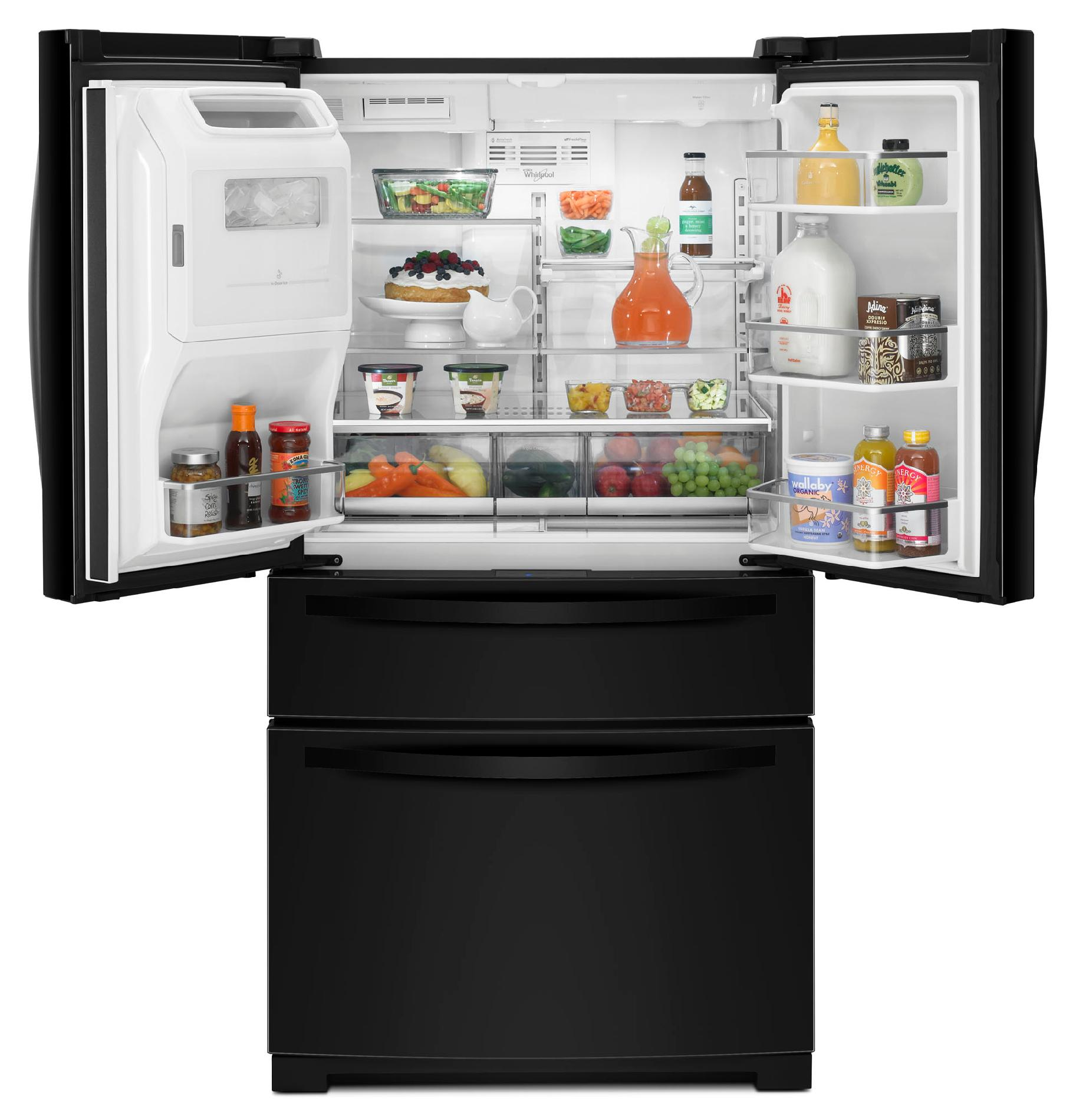 Whirlpool 28.1 cu. ft. French Door Refrigerator w/ Most Flexible Storage - Black