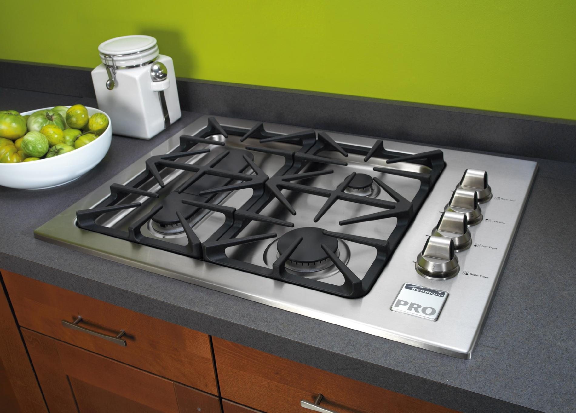 "Kenmore Pro 30"" Gas Drop In Cooktop - Stainless Steel"
