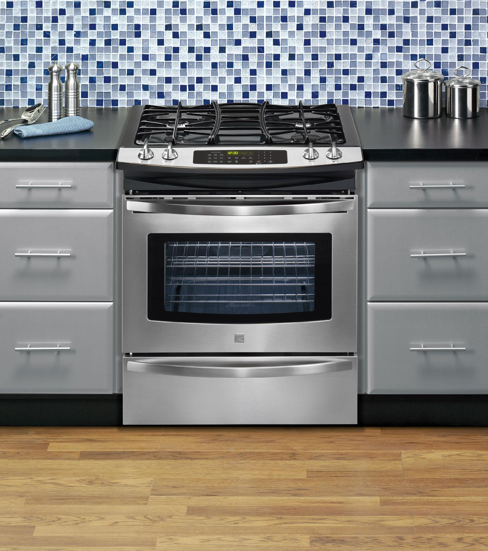 """Kenmore 30"""" Gas Self Clean Slide-In Range with Convection Cooking"""