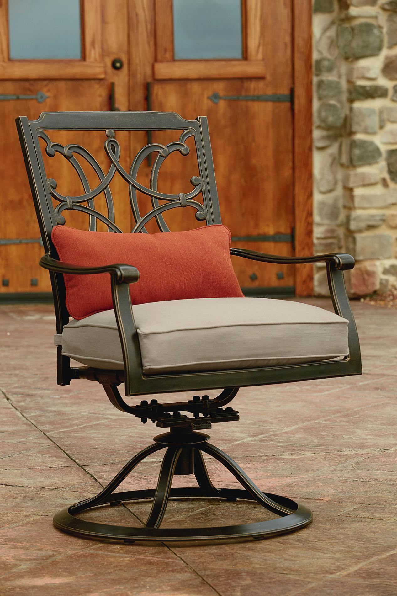 Agio Tuscany Outdoor 7 Piece Patio Dining Set Featuring Sunbrella&reg Fabric *Limited Availability
