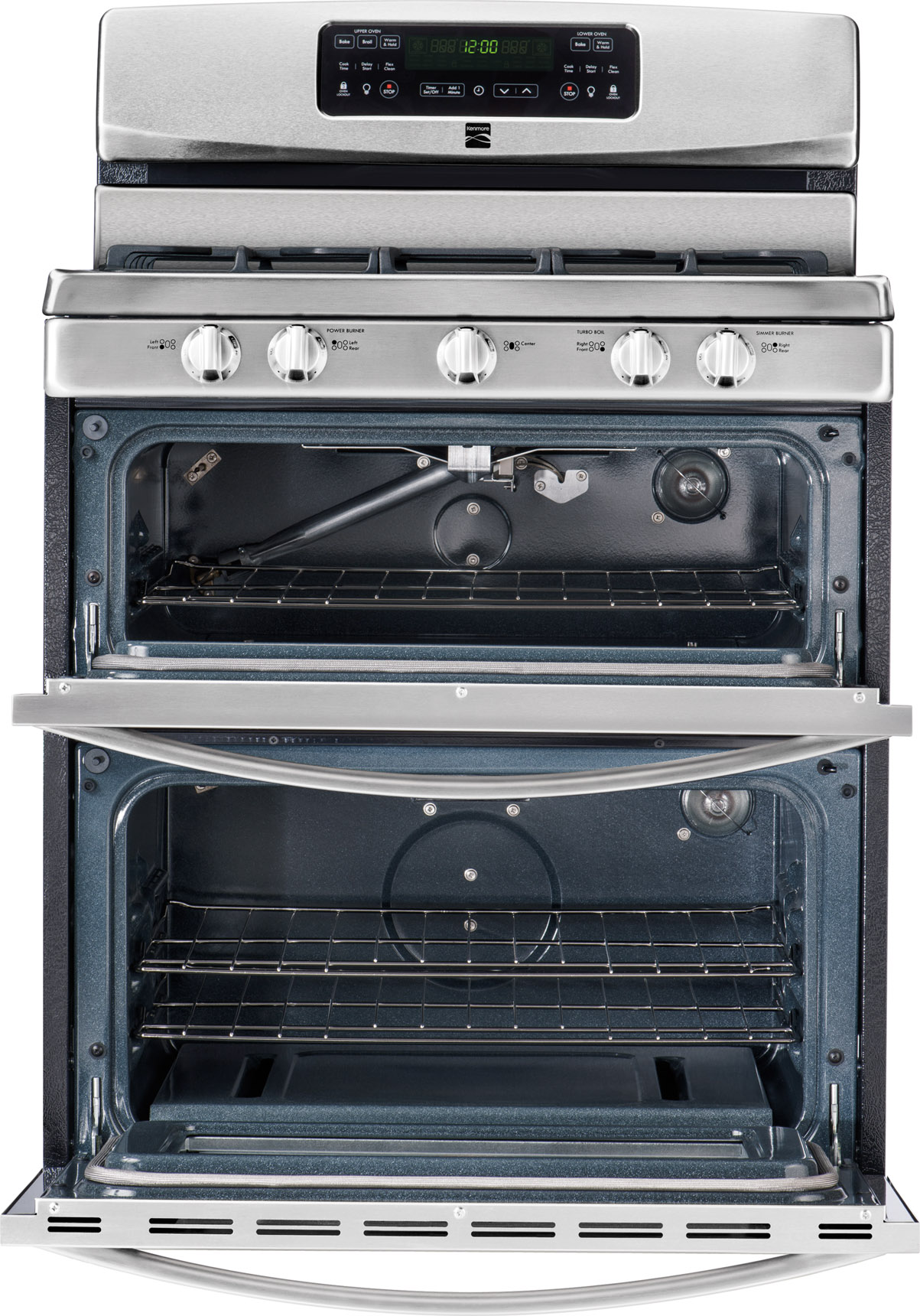 Kenmore 5.8 cu. ft. Double-Oven Gas Range - Stainless Steel