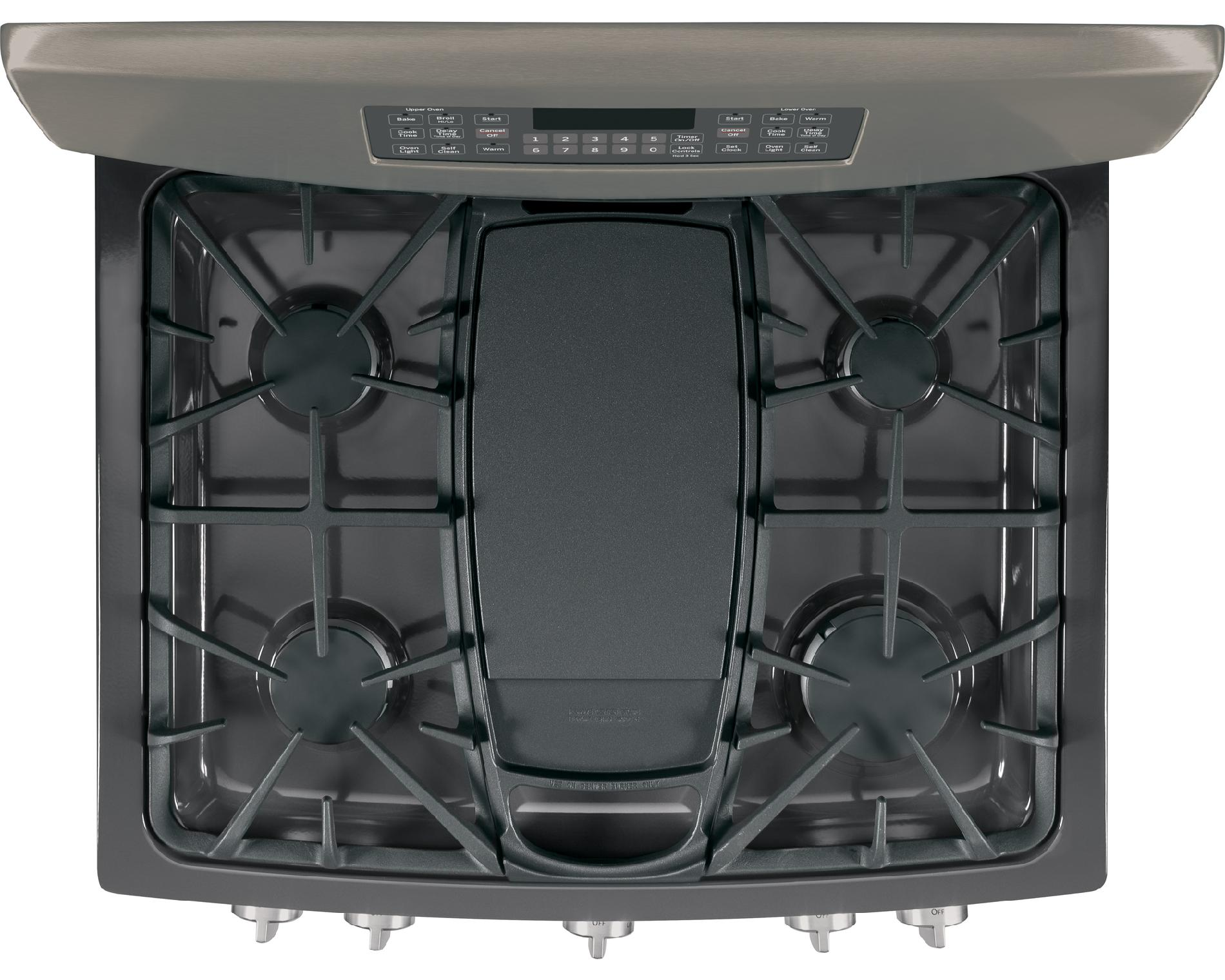 GE Appliances 6.8 cu. ft. Gas Range w/ Double Oven - Slate