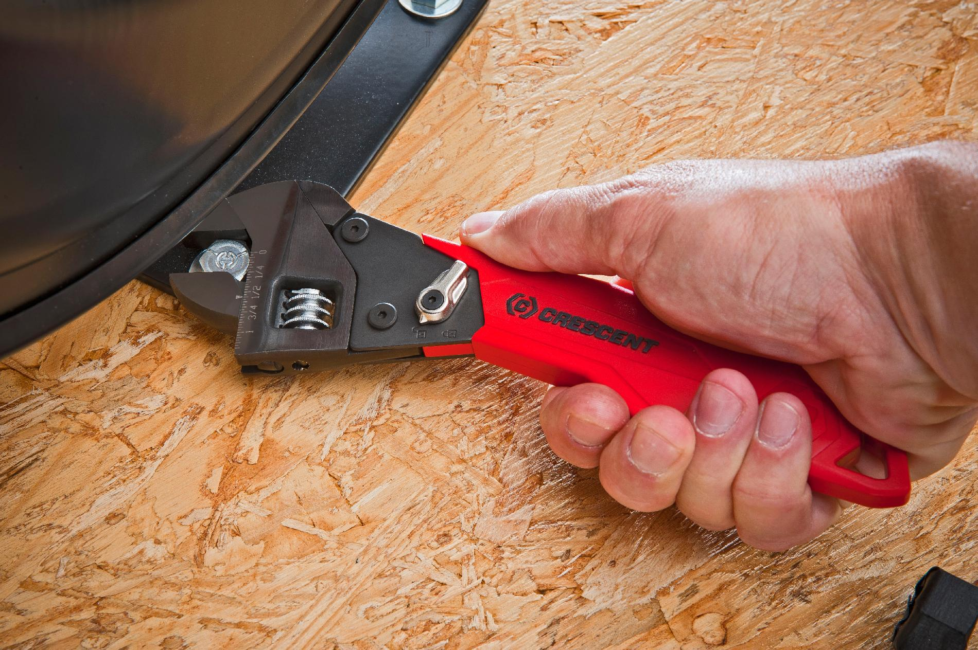 """Crescent 8"""" Ratcheting Adjustable Wrench"""